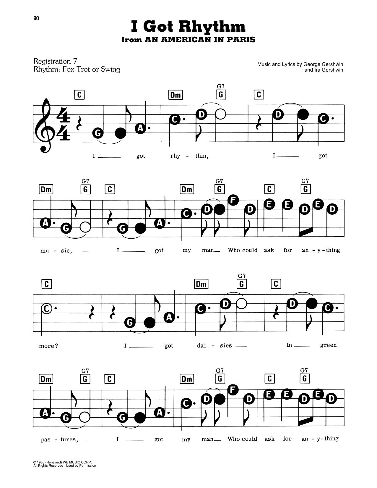 I Got Rhythm (E-Z Play Today)