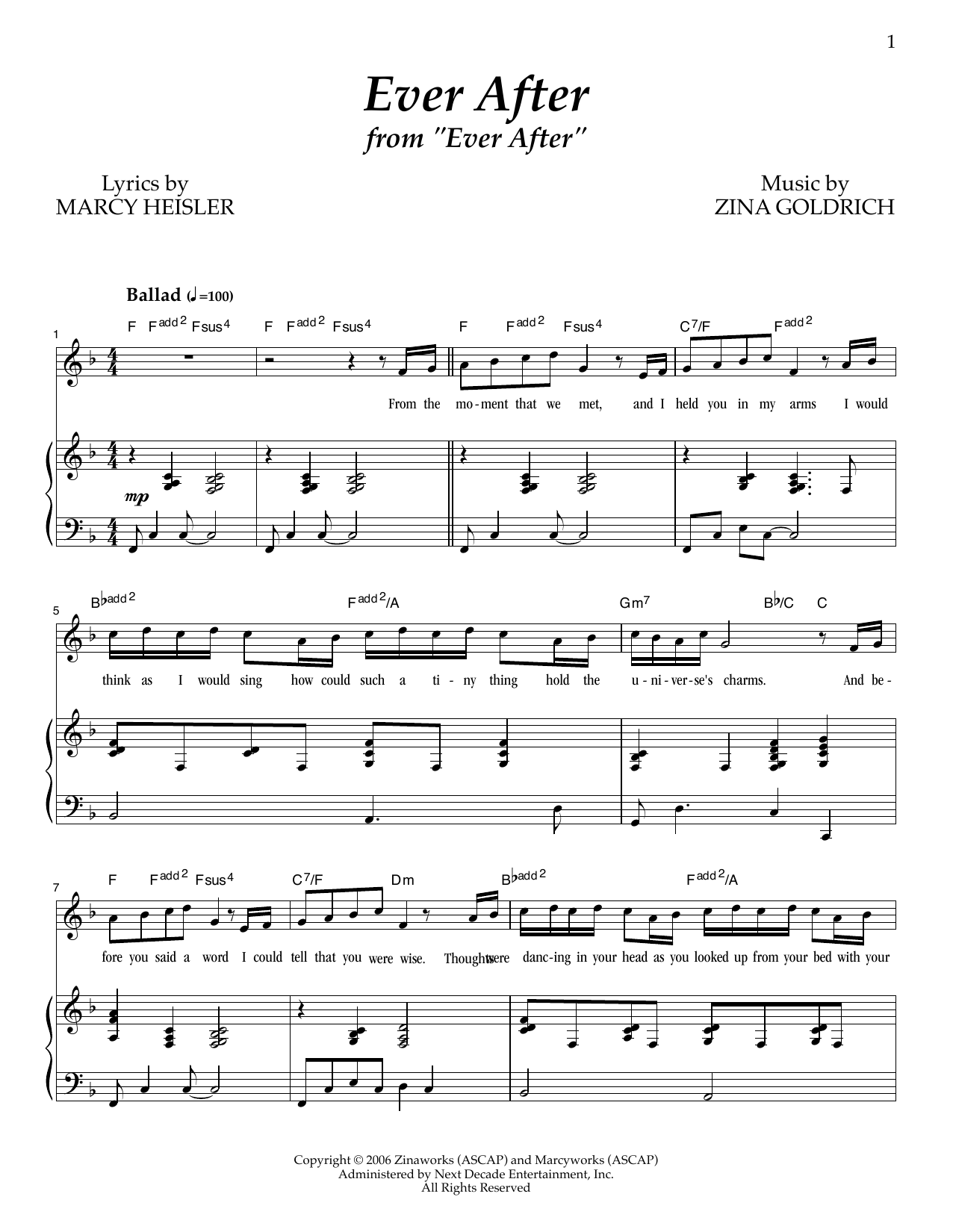 Ever After Sheet Music