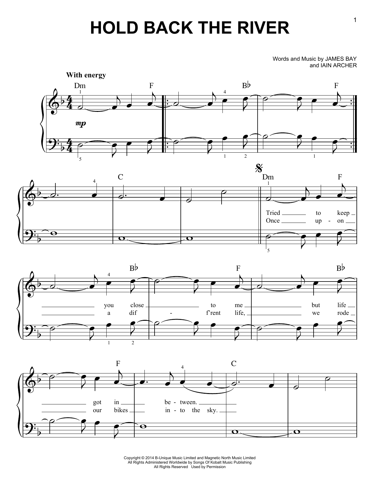 Hold Back The River Sheet Music