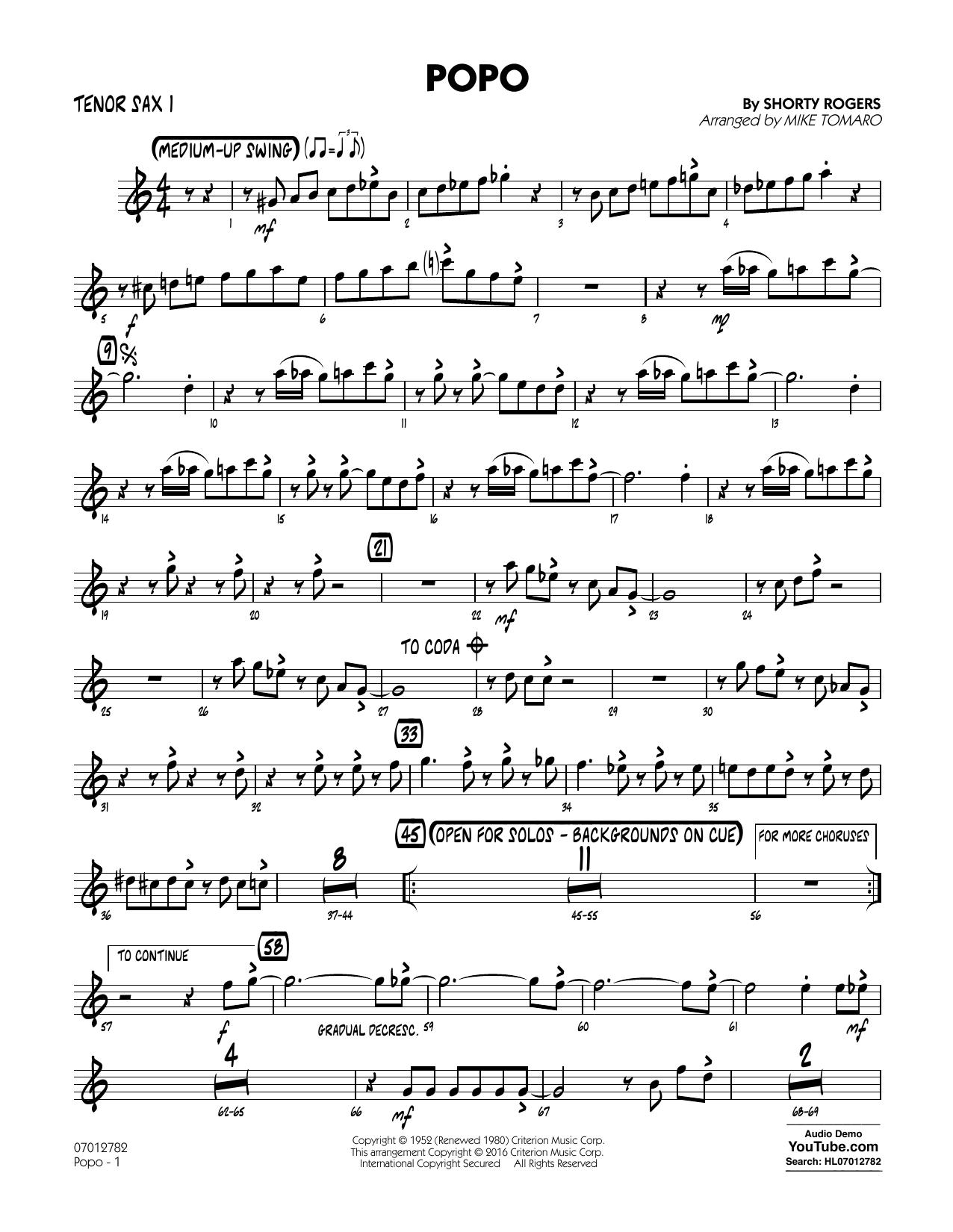 Popo - Tenor Sax 1 (Jazz Ensemble)