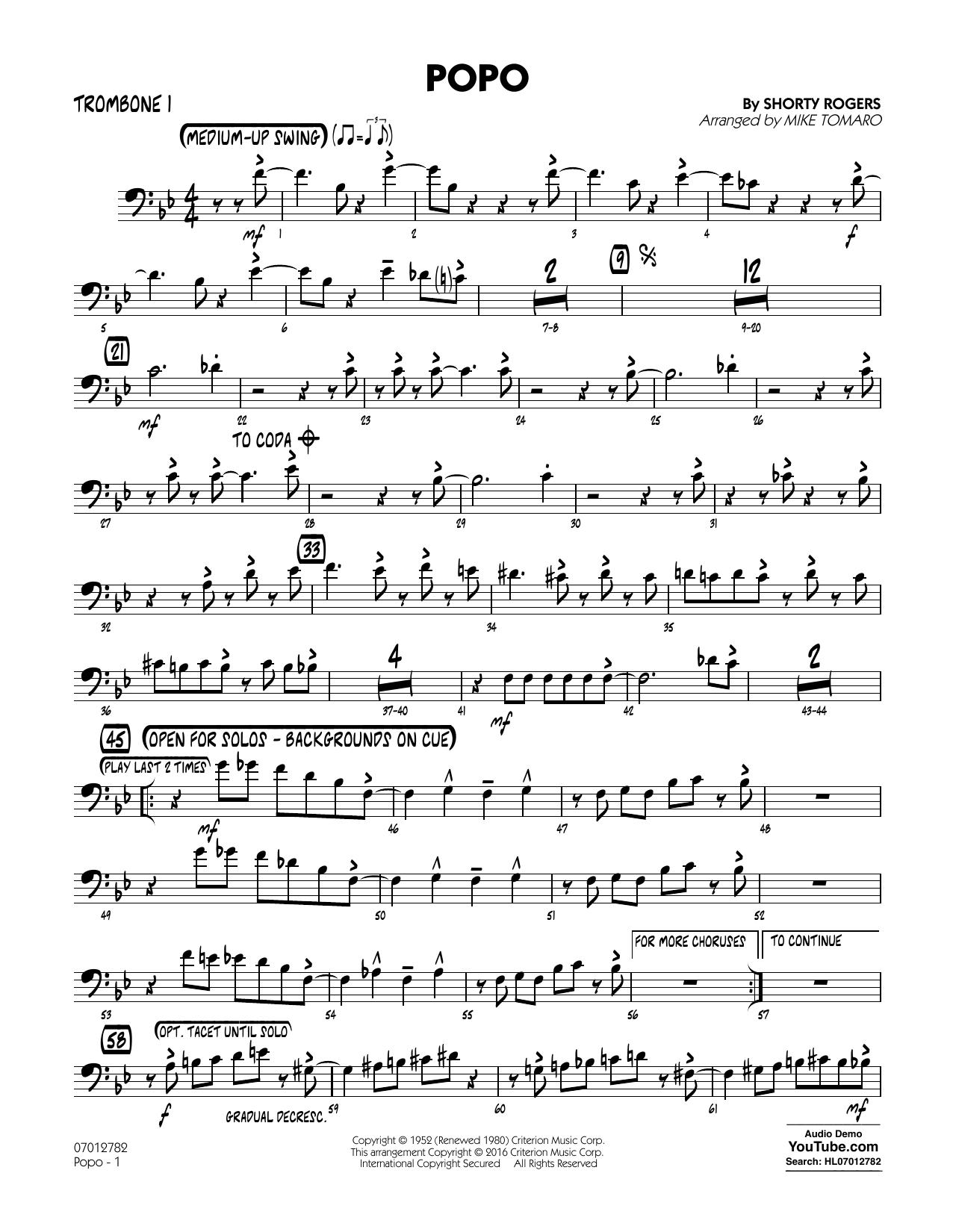 Popo - Trombone 1 (Jazz Ensemble)
