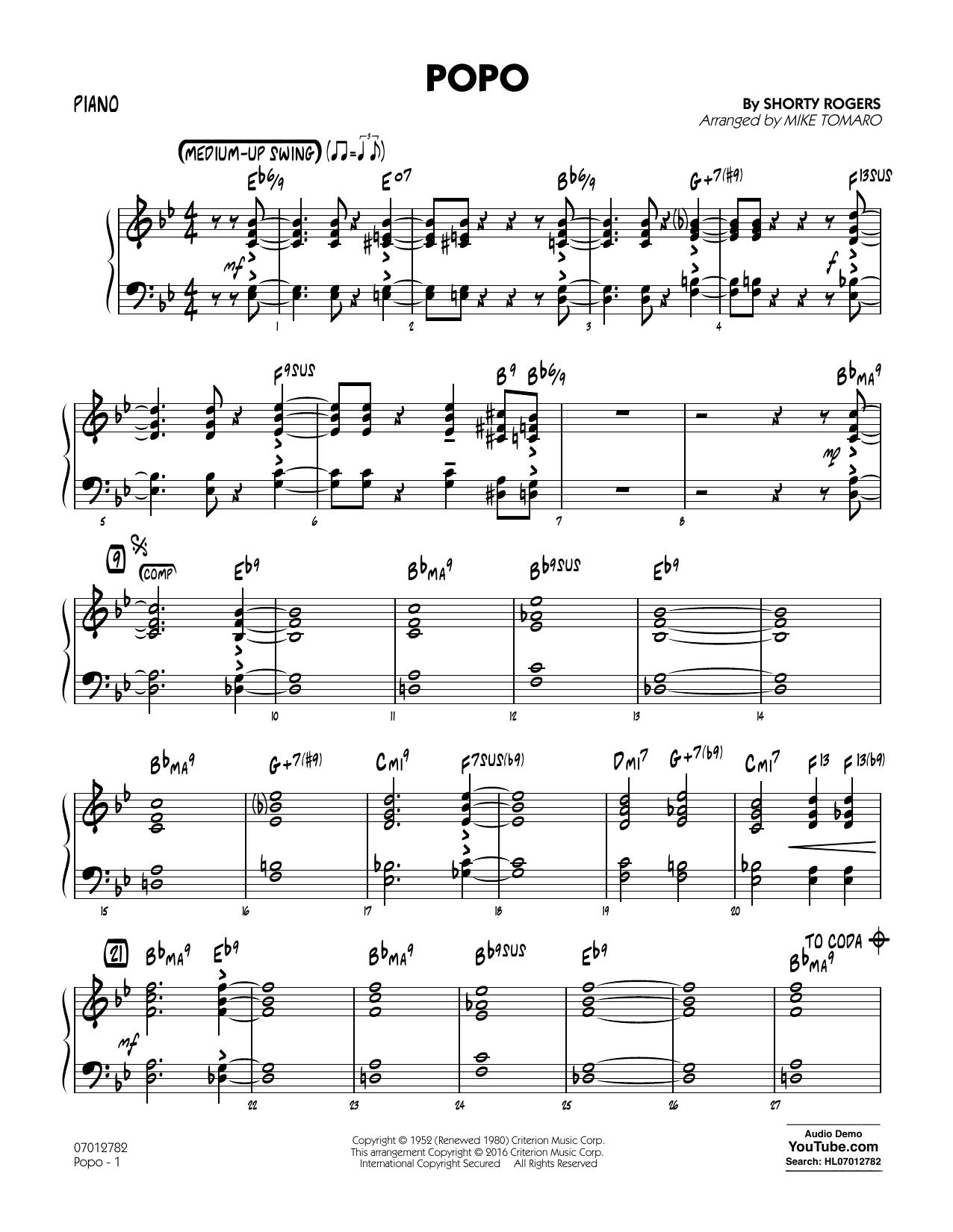 Popo - Piano (Jazz Ensemble)