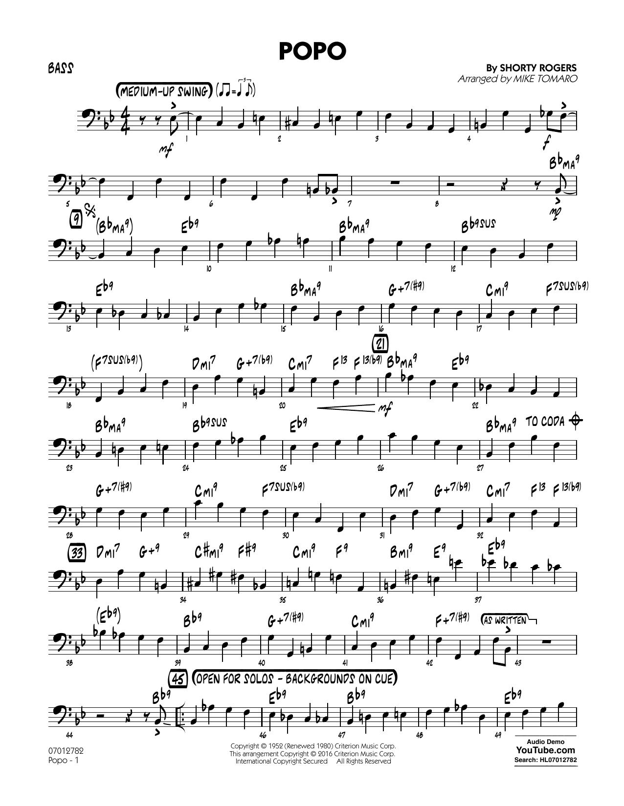 Popo - Bass (Jazz Ensemble)