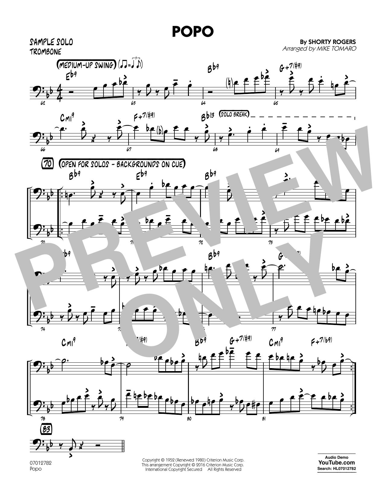 Popo - Trombone Sample Solo (Jazz Ensemble)