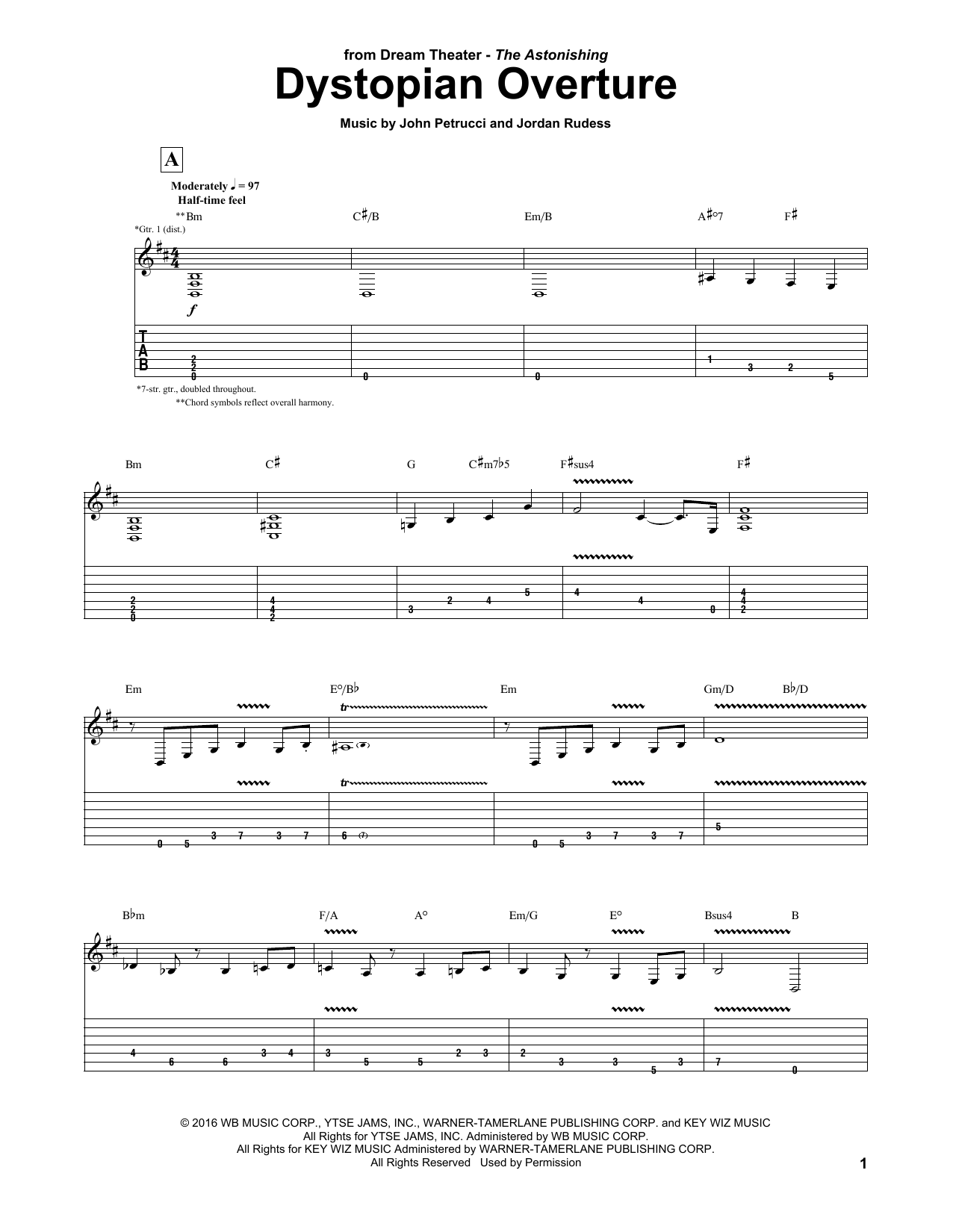 Dystopian Overture Sheet Music