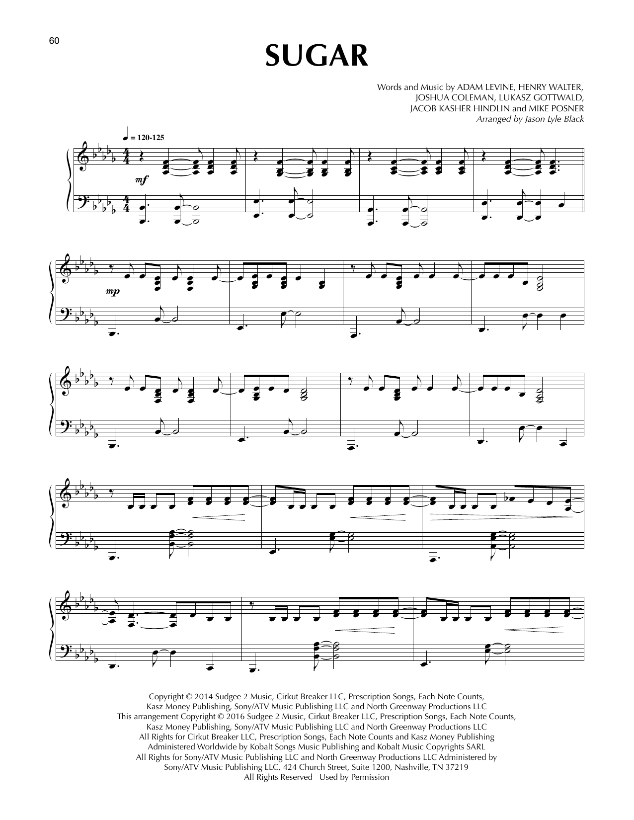 Sugar Sheet Music