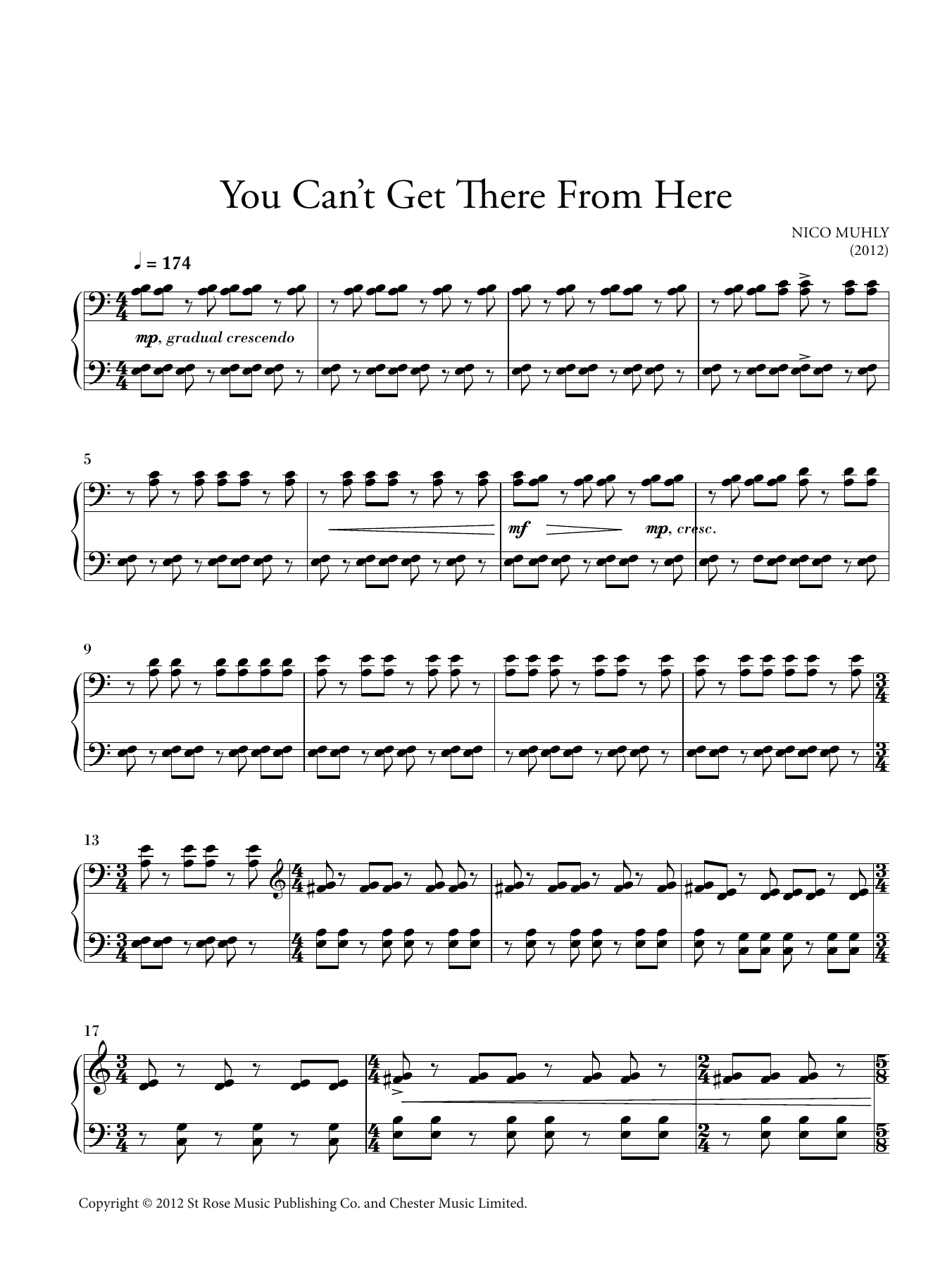 You Can't Get There From Here Sheet Music