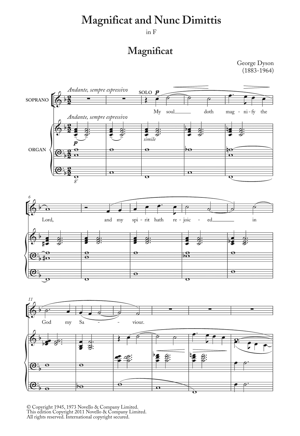Magnificat And Nunc Dimittis In F Sheet Music