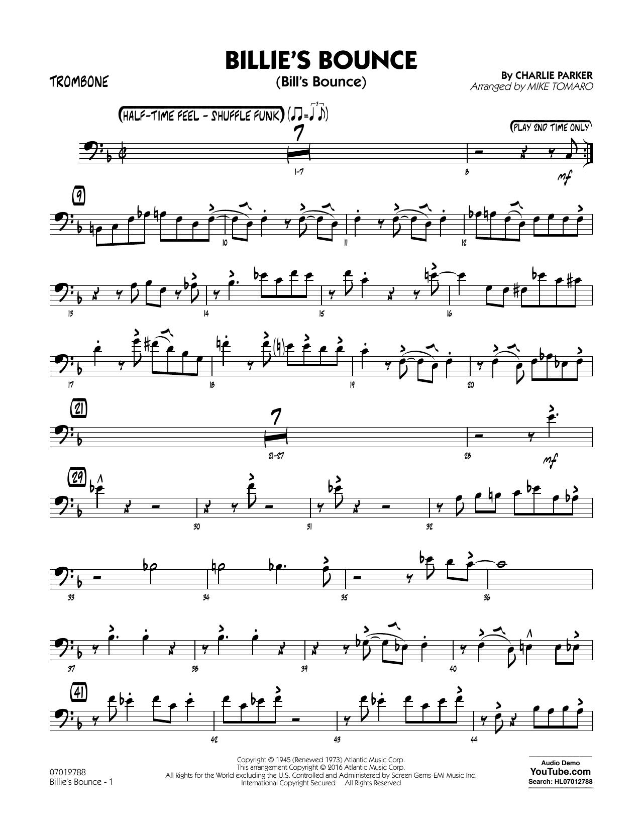 Billie's Bounce - Trombone (Jazz Ensemble)