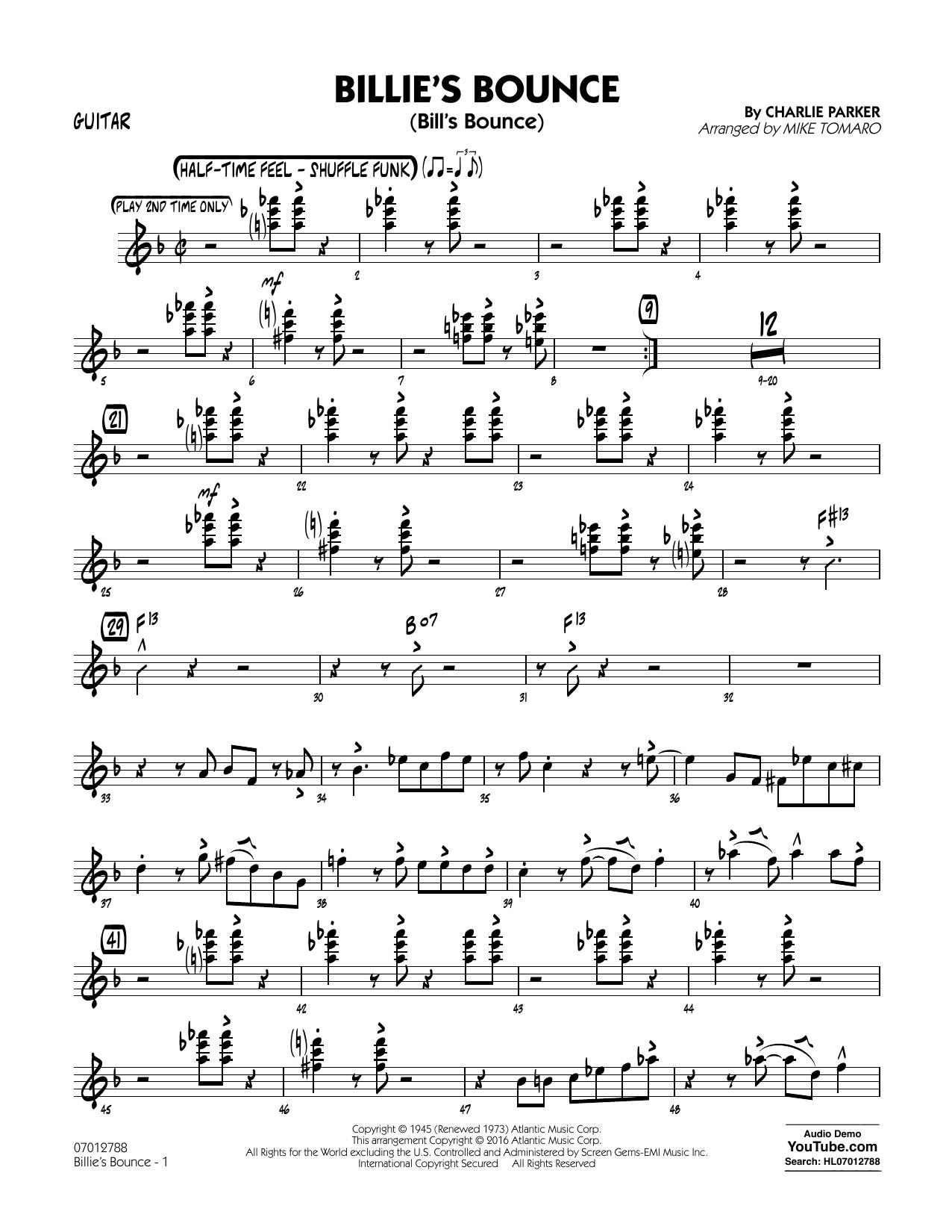 Billie's Bounce - Guitar (Jazz Ensemble)