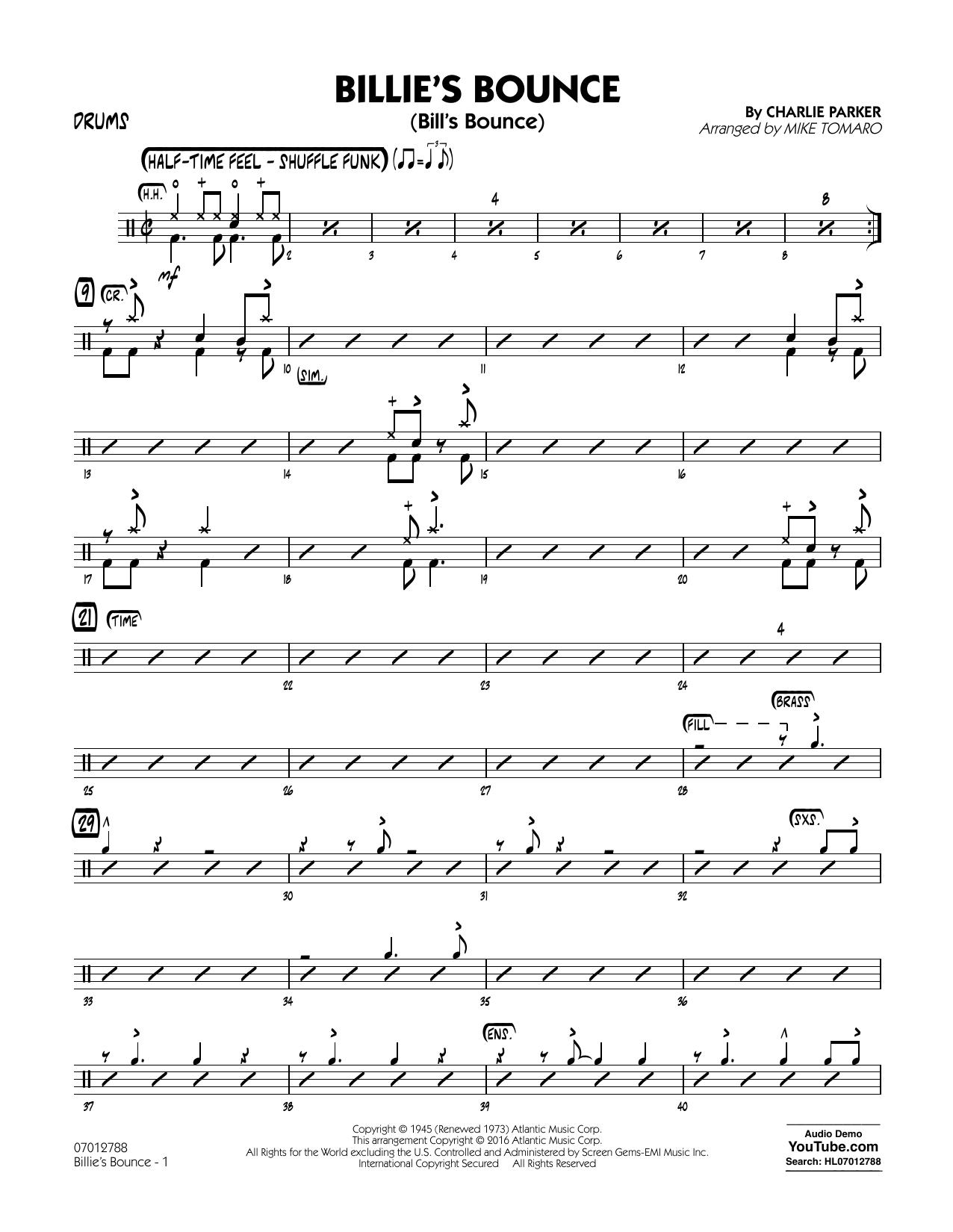 Billie's Bounce - Drums (Jazz Ensemble)