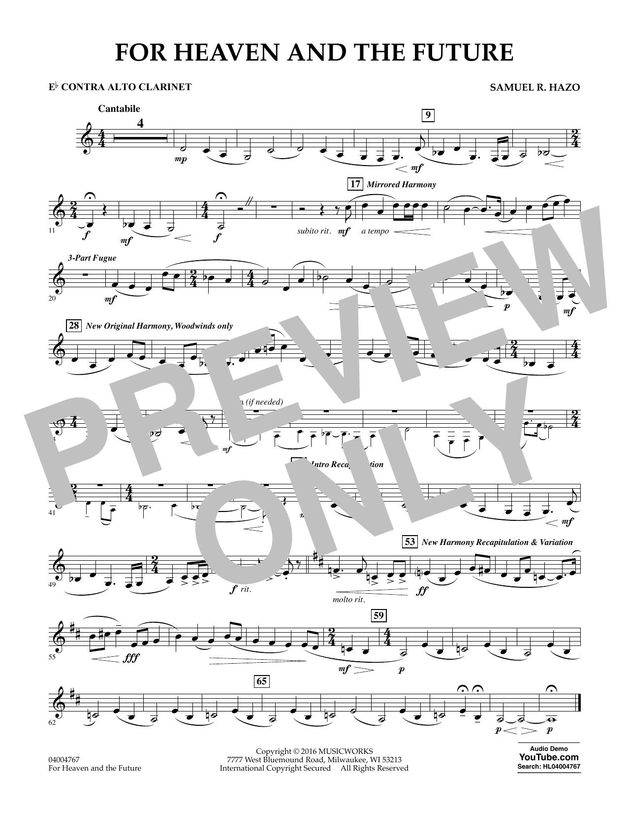 For Heaven and the Future - Eb Contra Alto Clarinet (Concert Band)