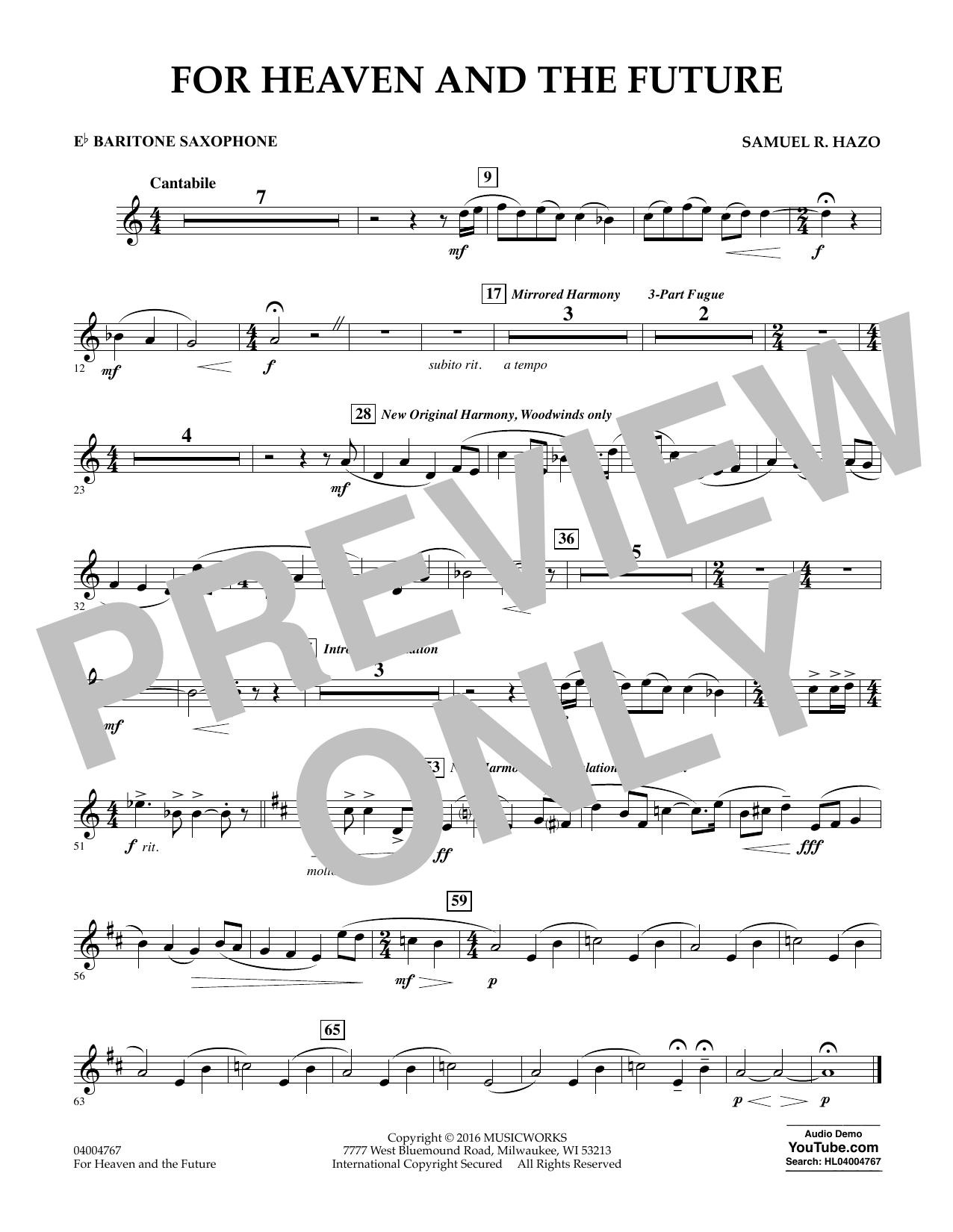 For Heaven and the Future - Eb Baritone Saxophone (Concert Band)
