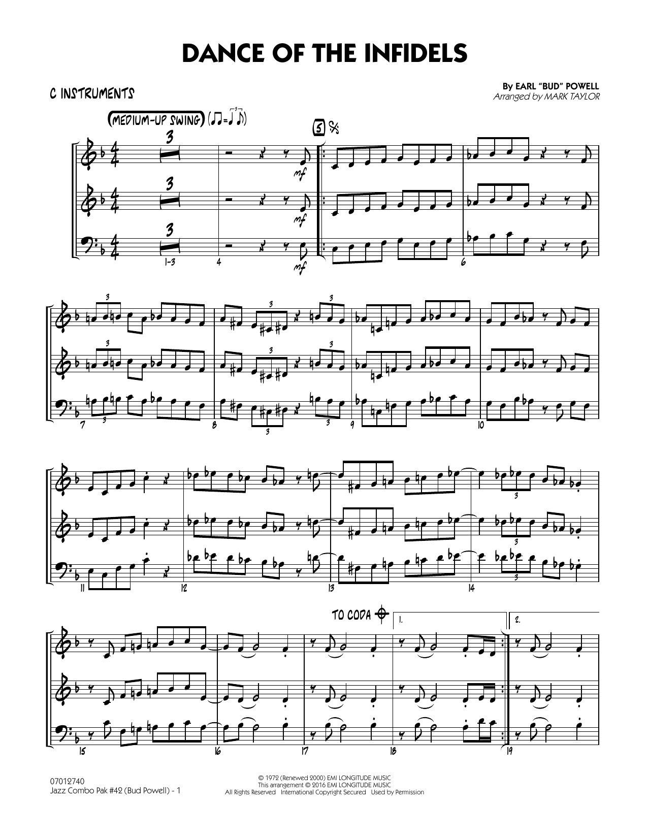Jazz Combo Pak #42 (Bud Powell) - C Instruments (Jazz Ensemble)