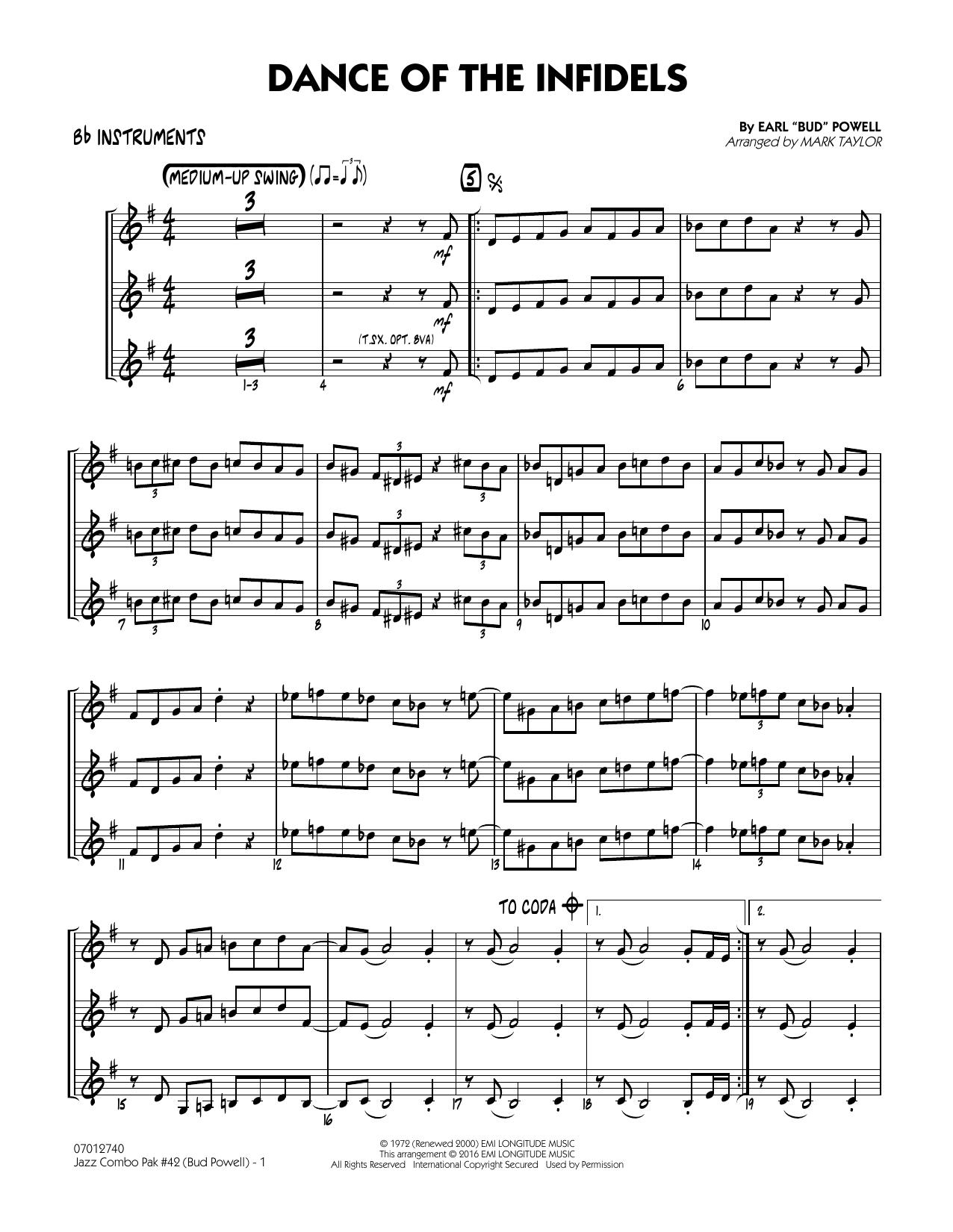 Jazz Combo Pak #42 (Bud Powell) - Bb Instruments (Jazz Ensemble)