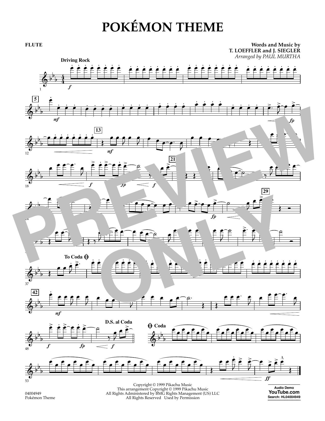 Pokemon Theme Flute At Stantons Sheet Music