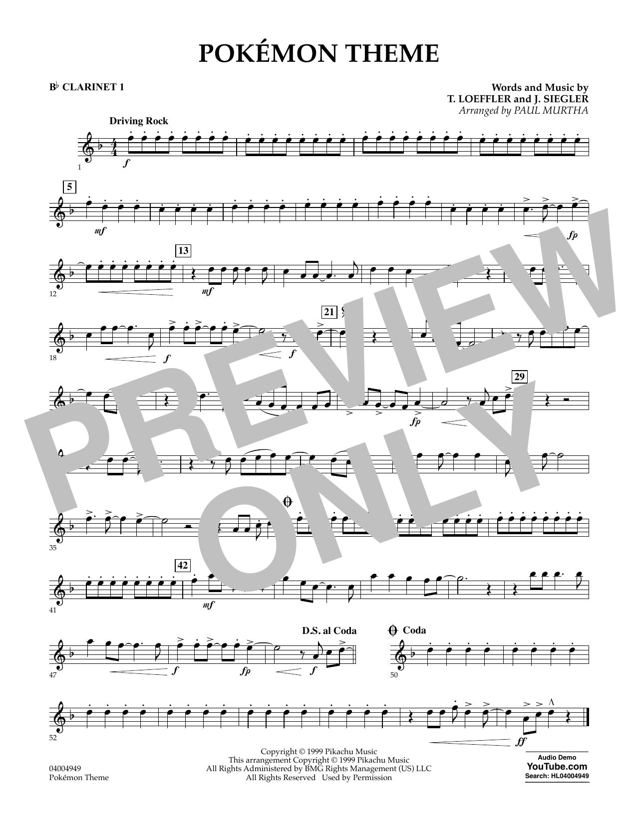 Pokemon Theme - Bb Clarinet 1 (Concert Band)