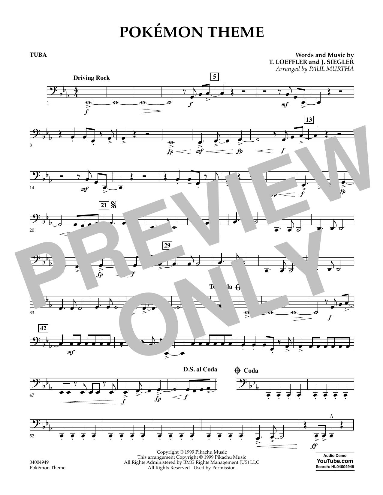 Pokemon Theme - Tuba (Concert Band)