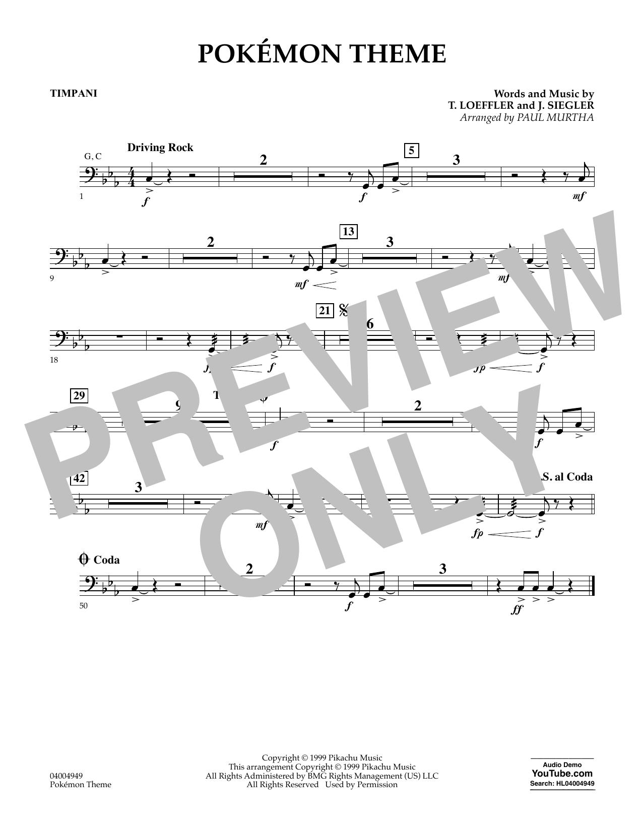Pokemon Theme - Timpani (Concert Band)