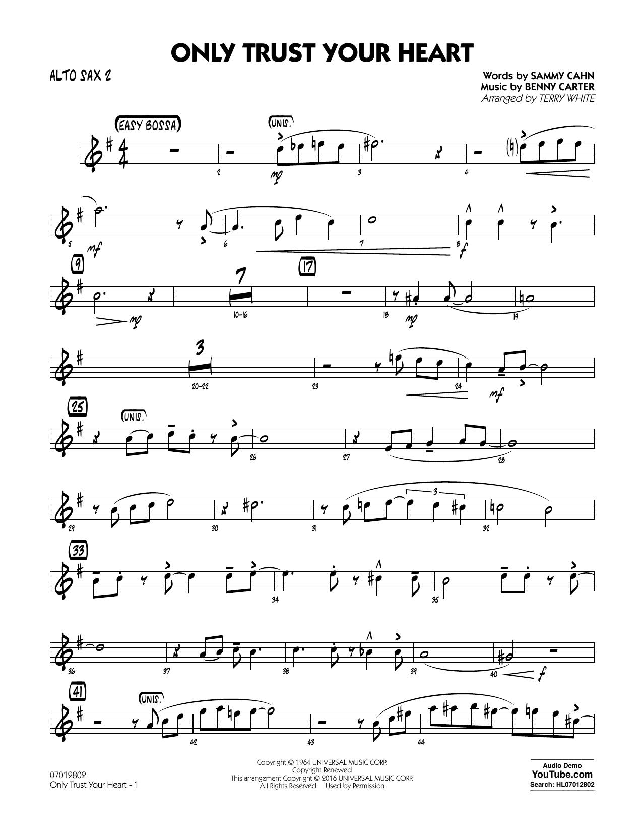 Only Trust Your Heart - Alto Sax 2 (Jazz Ensemble)