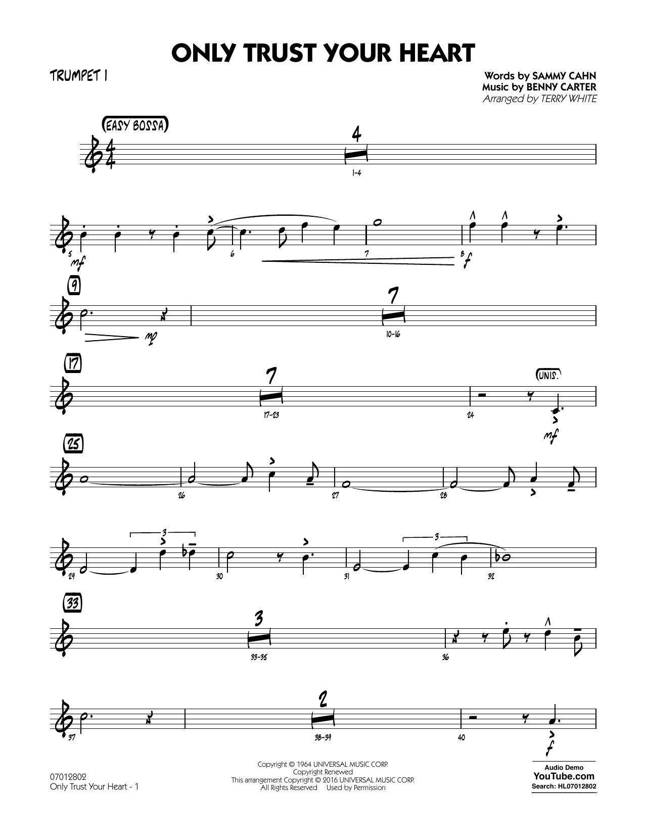 Only Trust Your Heart - Trumpet 1 (Jazz Ensemble)