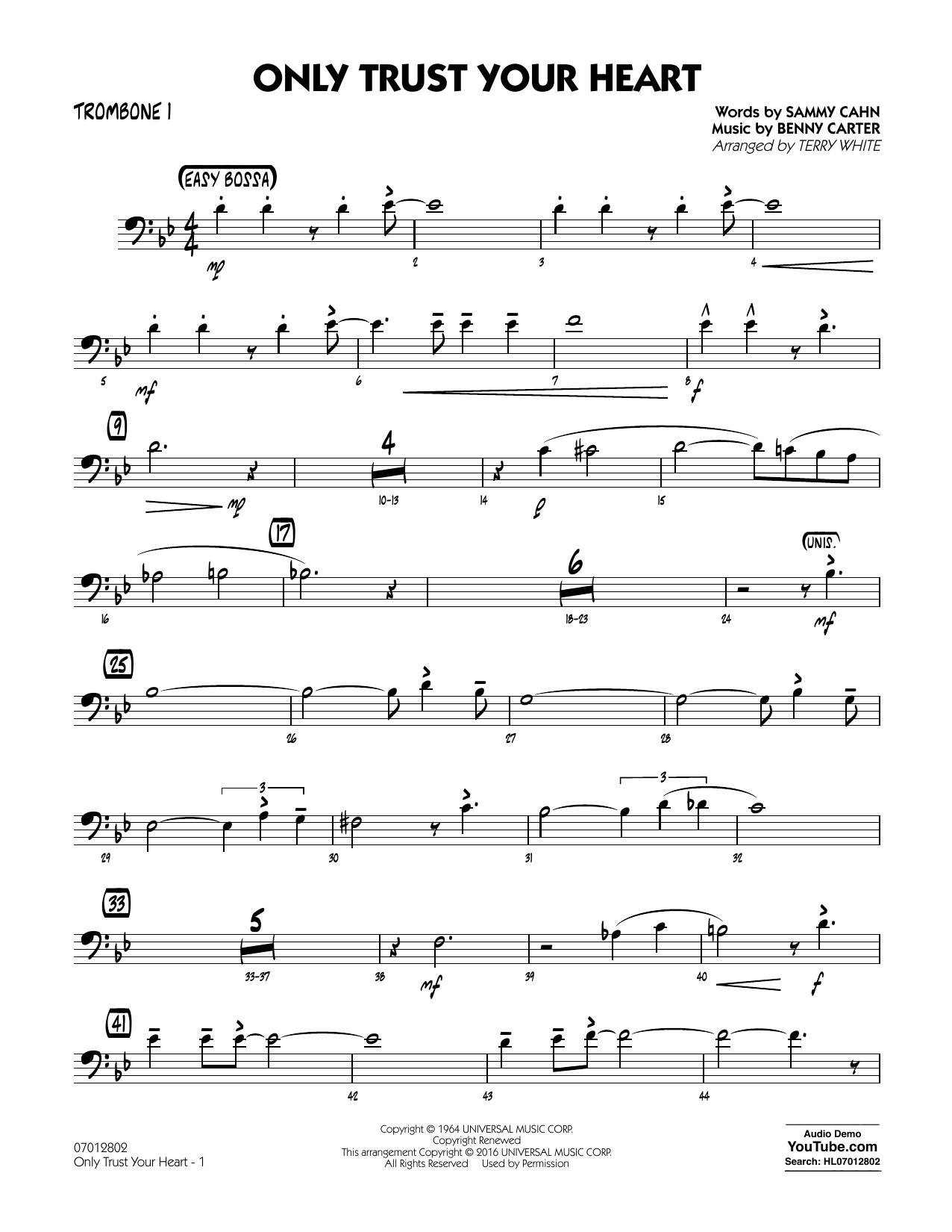 Only Trust Your Heart - Trombone 1 (Jazz Ensemble)