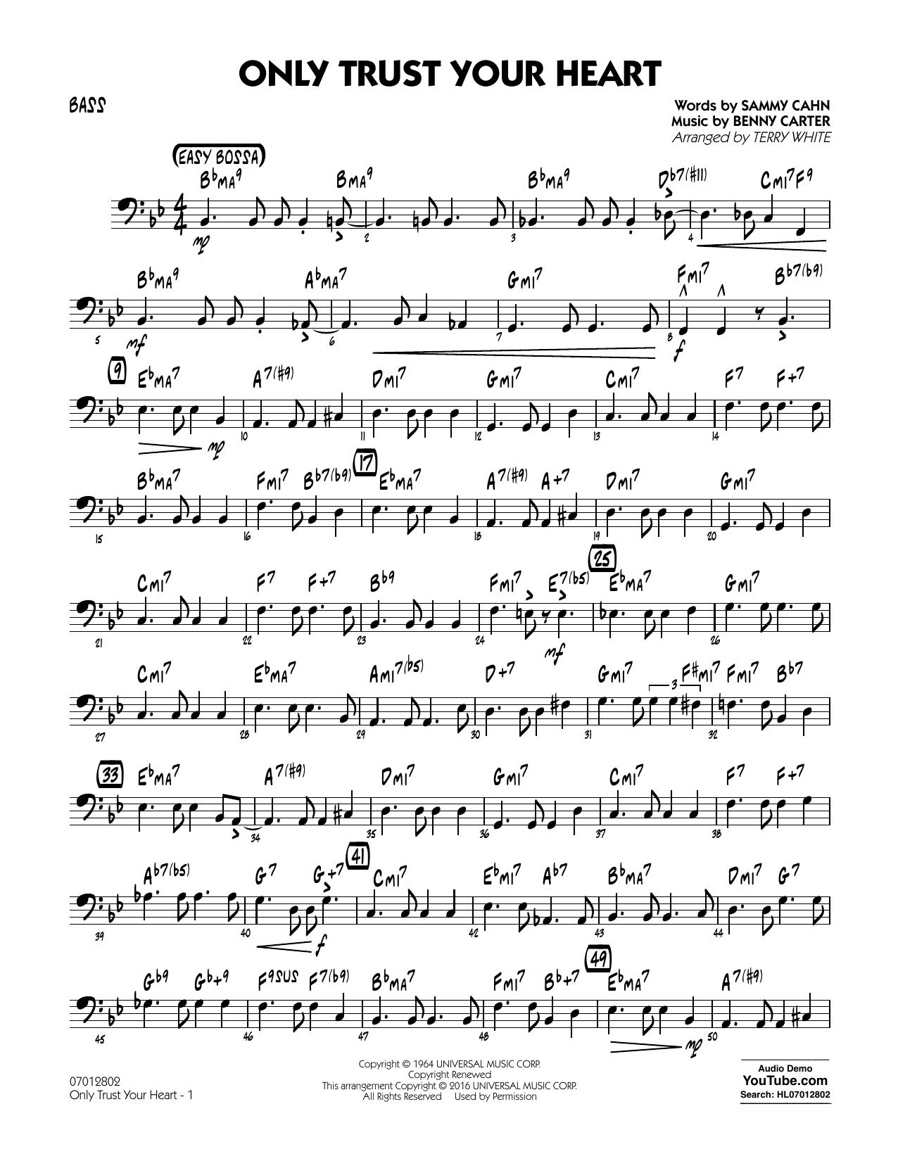 Only Trust Your Heart - Bass (Jazz Ensemble)