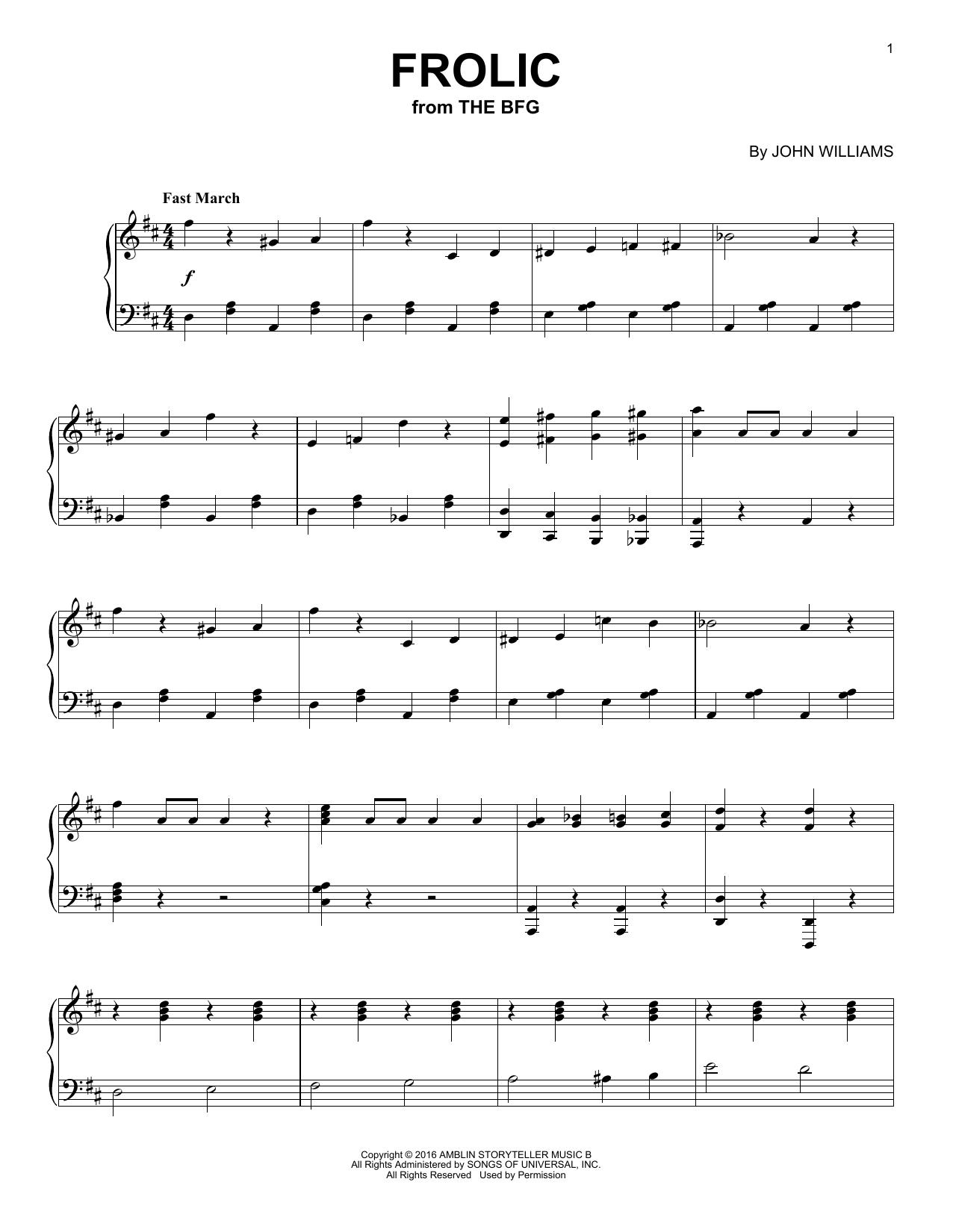 Frolic Sheet Music