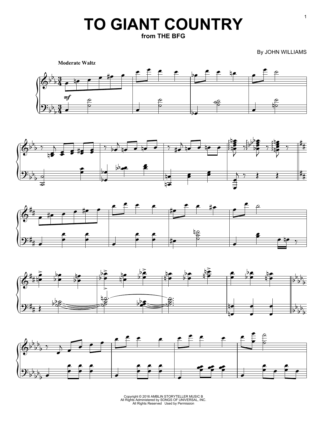 To Giant Country Sheet Music