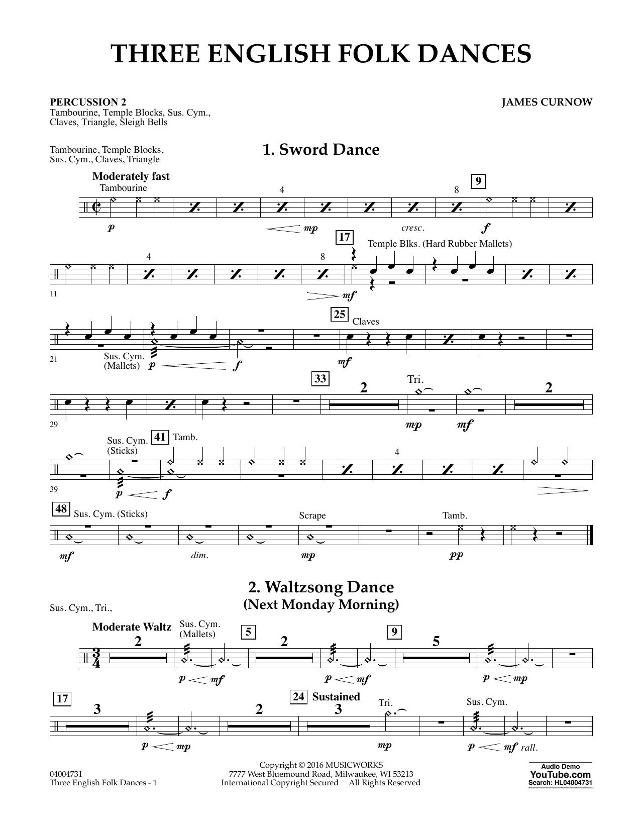 Three English Folk Dances - Percussion 2 (Concert Band)