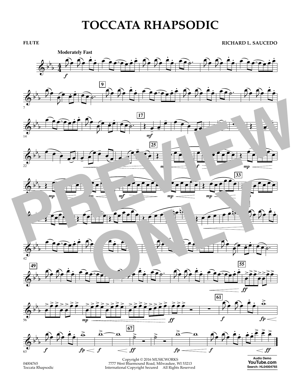 Toccata Rhapsodic - Flute (Concert Band)