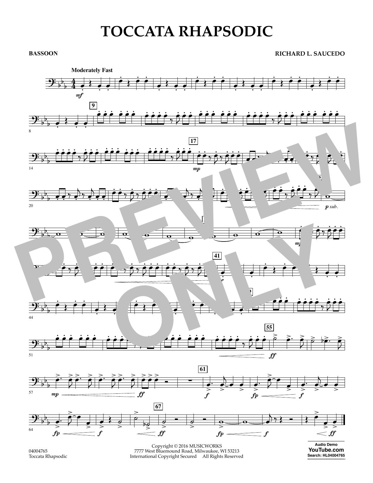 Toccata Rhapsodic - Bassoon (Concert Band)