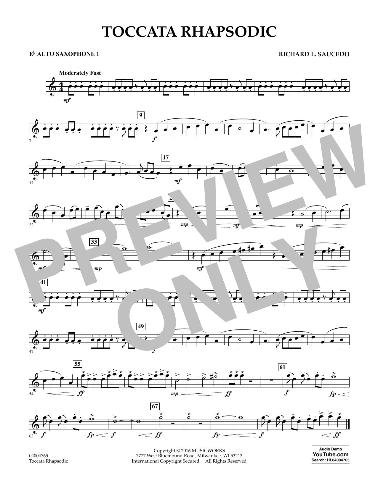 Toccata Rhapsodic - Eb Alto Saxophone 1 (Concert Band)