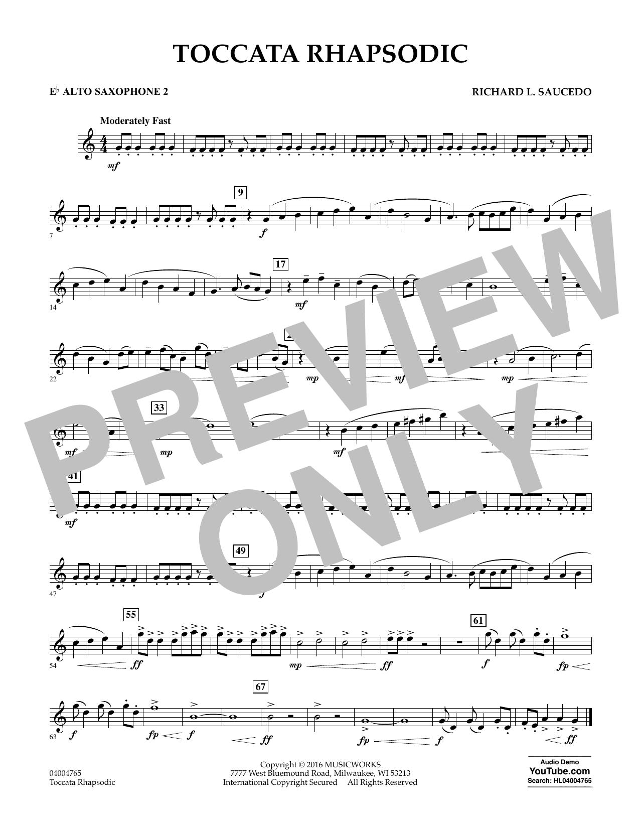 Toccata Rhapsodic - Eb Alto Saxophone 2 (Concert Band)