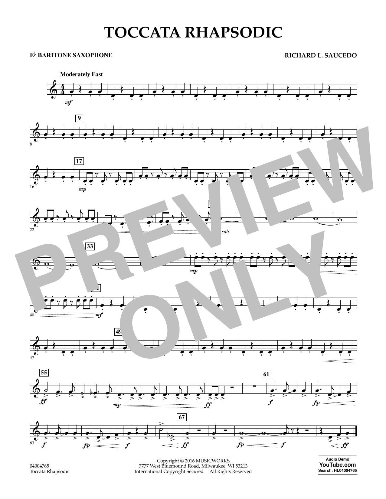 Toccata Rhapsodic - Eb Baritone Saxophone (Concert Band)