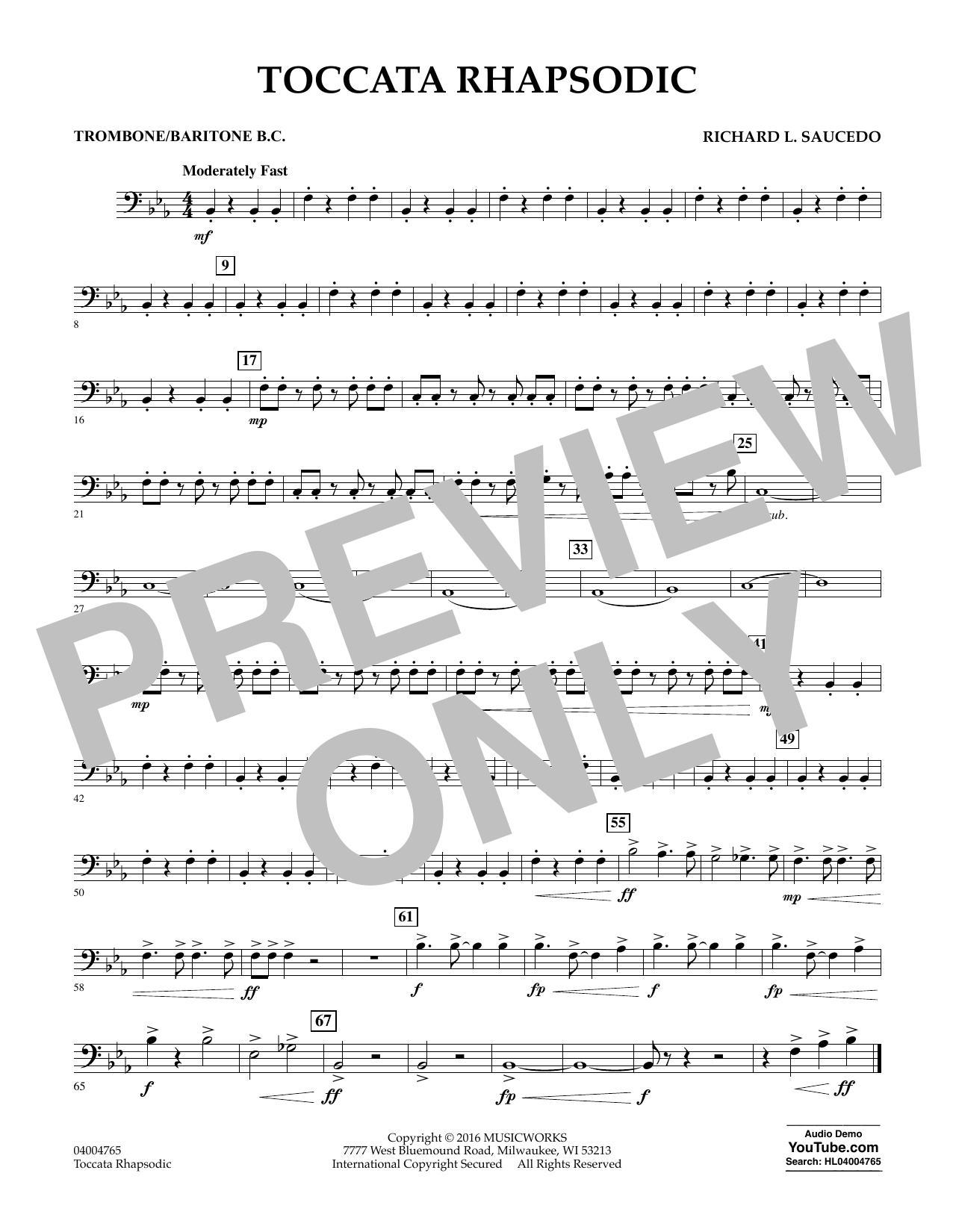 Toccata Rhapsodic - Trombone/Baritone B.C. (Concert Band)