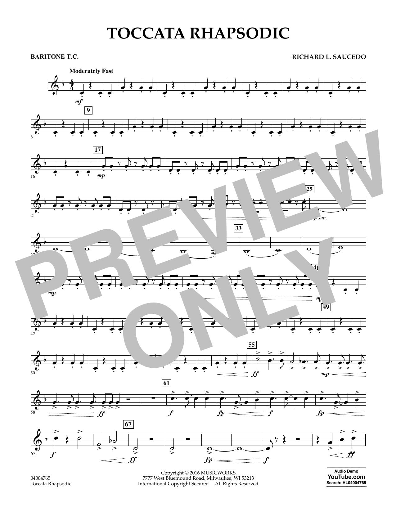 Toccata Rhapsodic - Baritone T.C. (Concert Band)