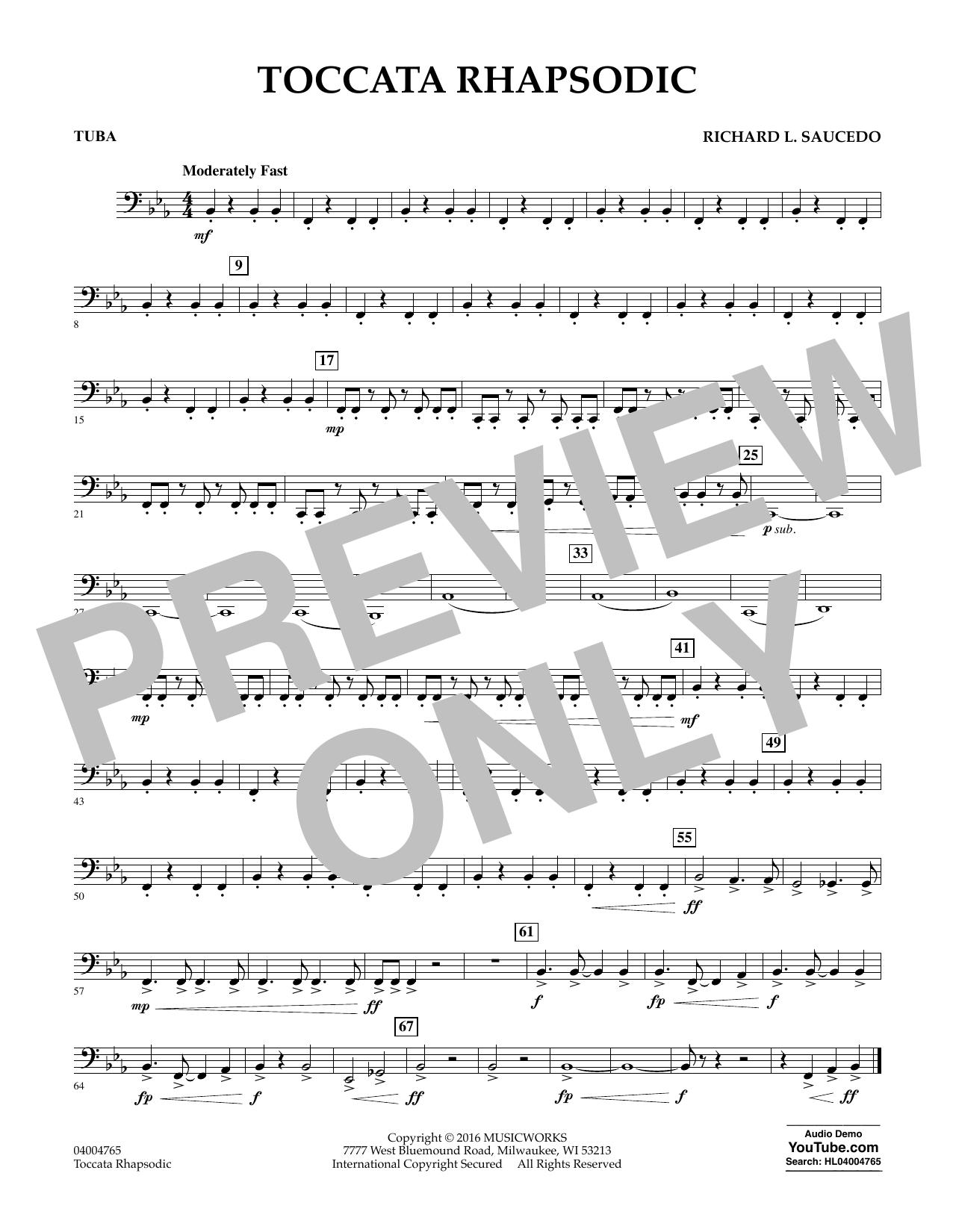 Toccata Rhapsodic - Tuba (Concert Band)