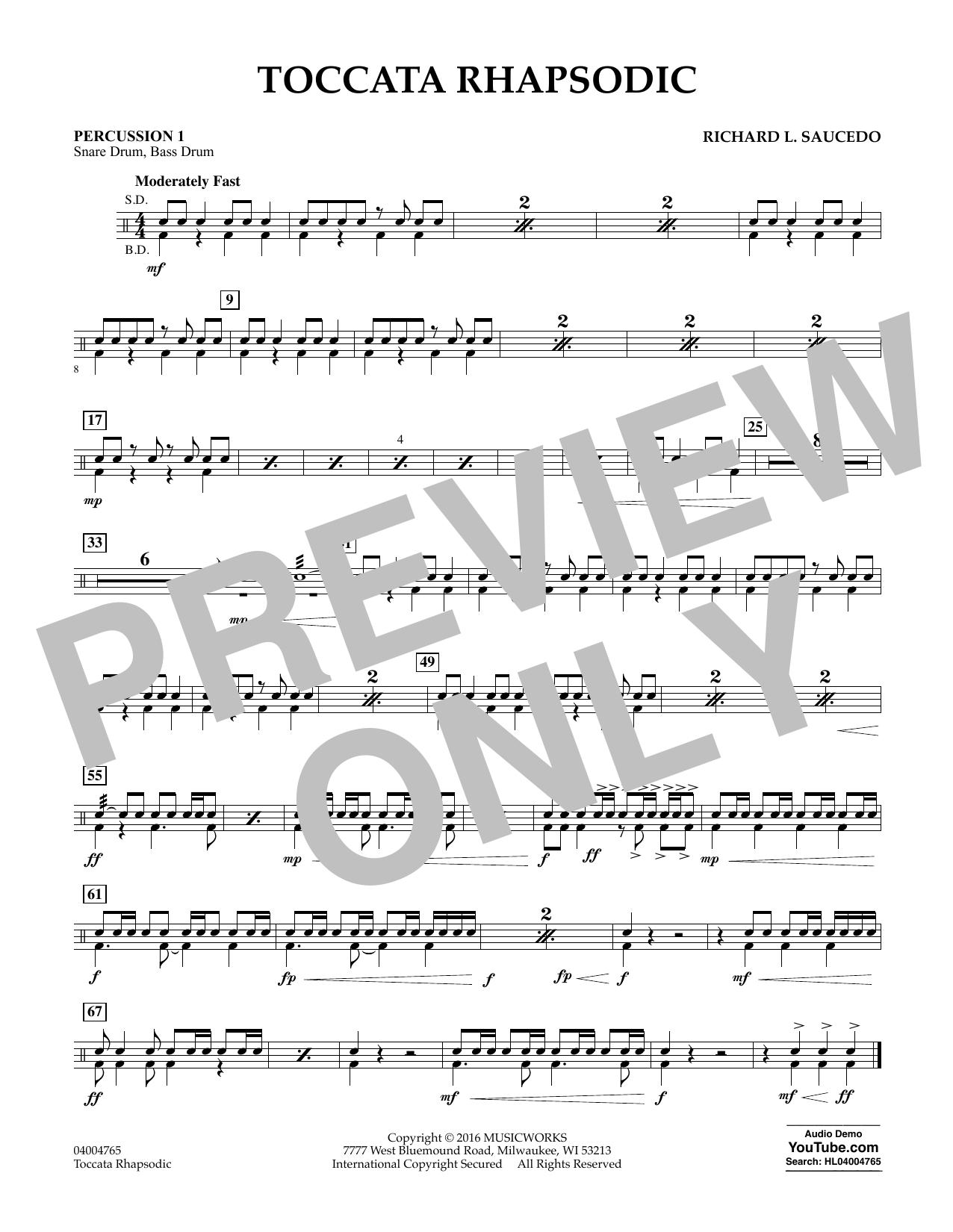 Toccata Rhapsodic - Percussion 1 (Concert Band)