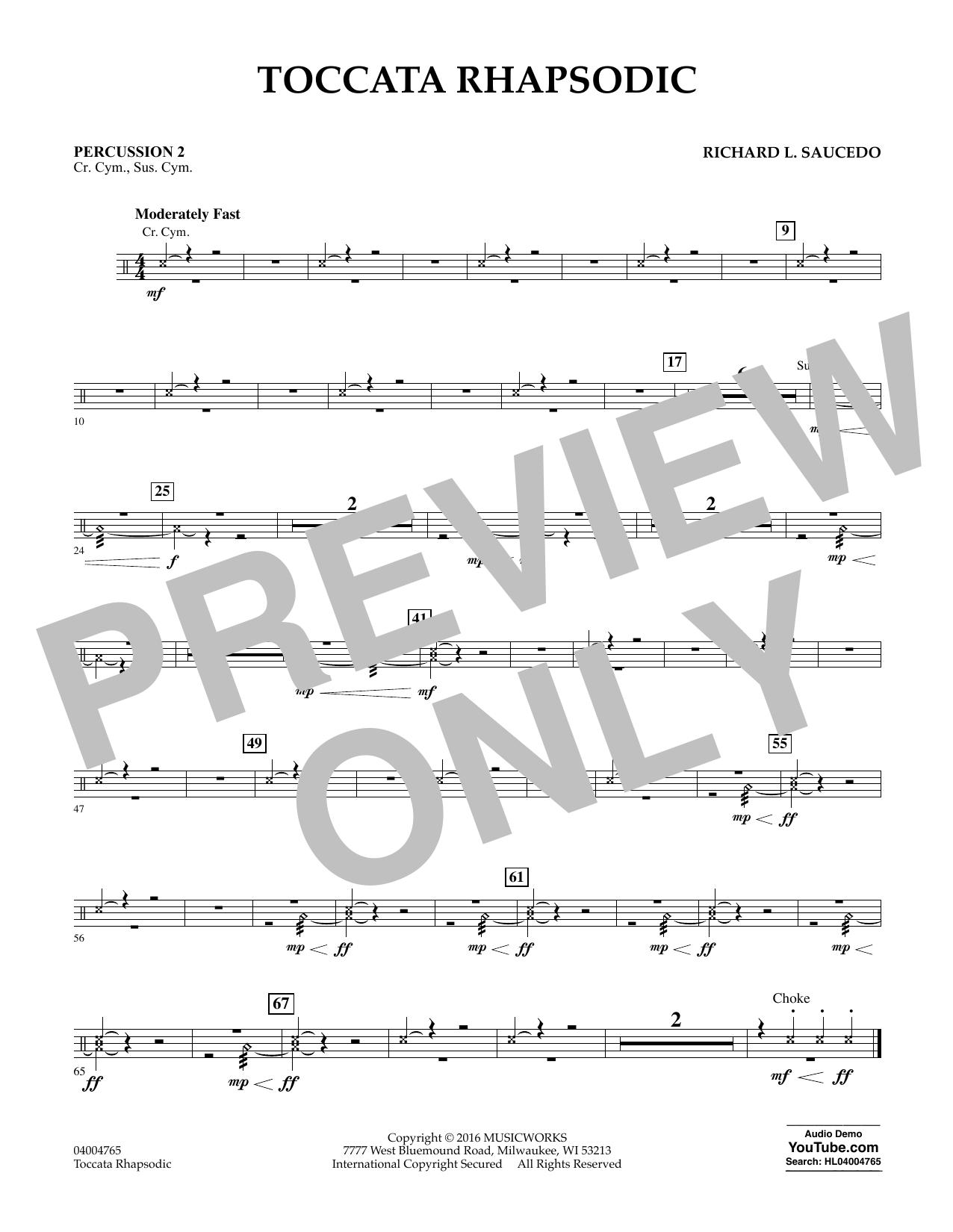 Toccata Rhapsodic - Percussion 2 (Concert Band)