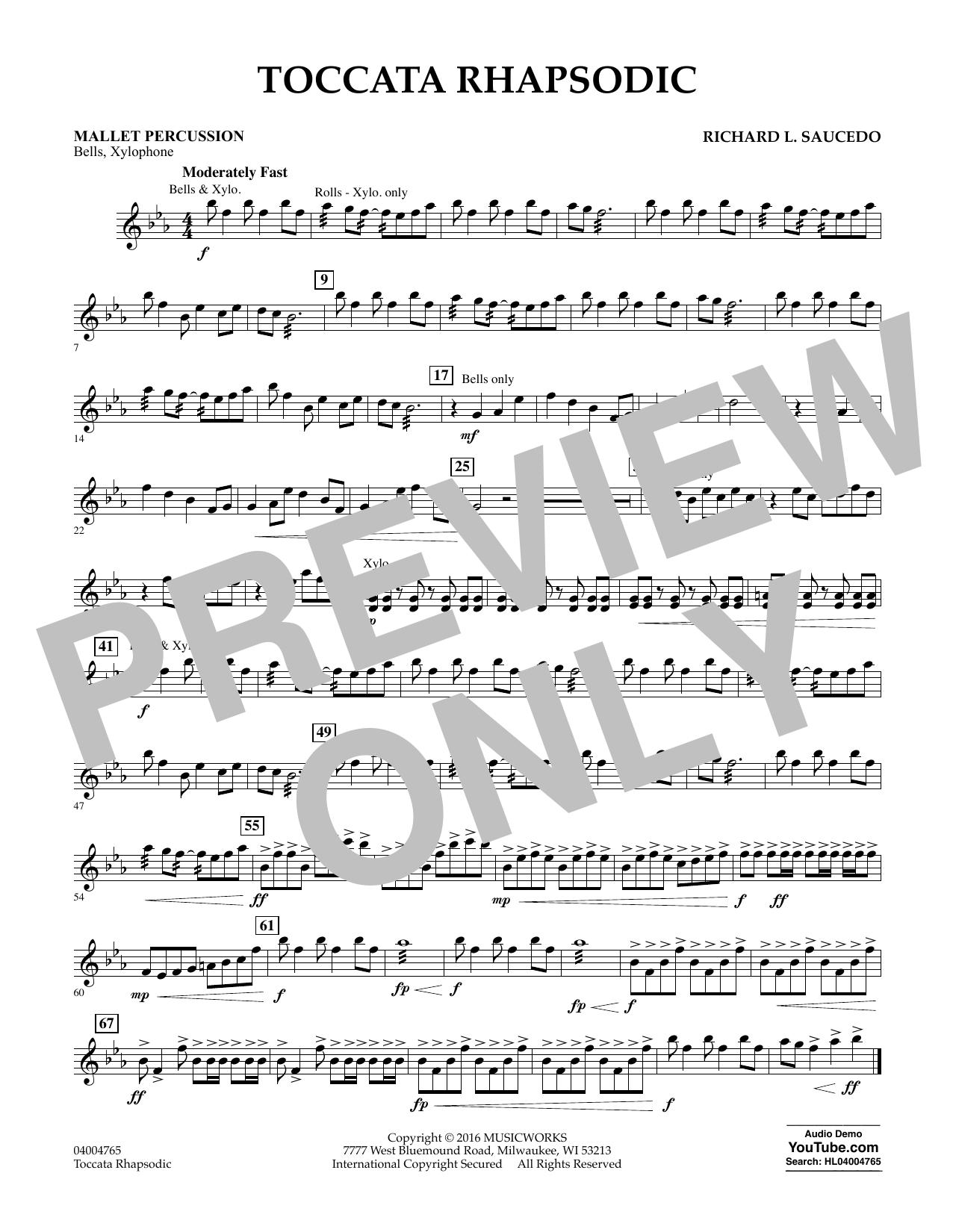 Toccata Rhapsodic - Mallet Percussion (Concert Band)