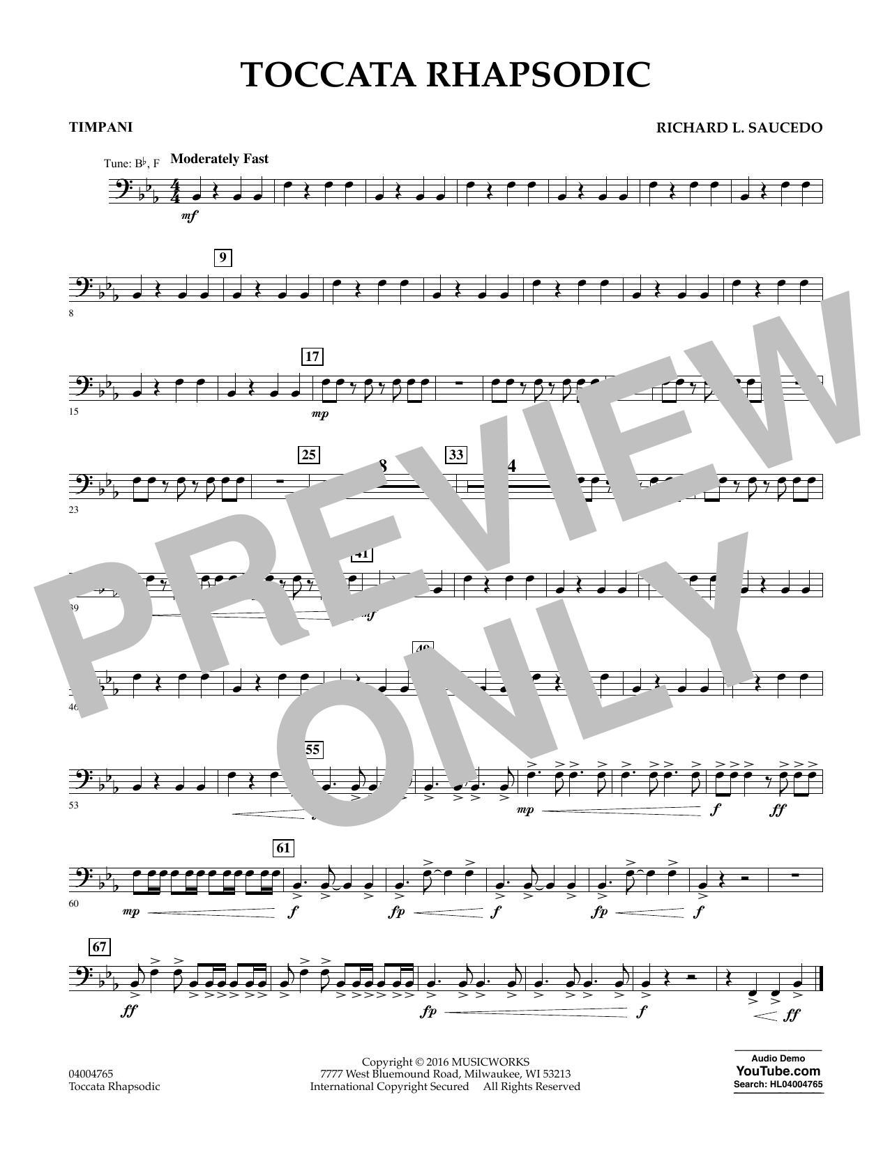 Toccata Rhapsodic - Timpani (Concert Band)