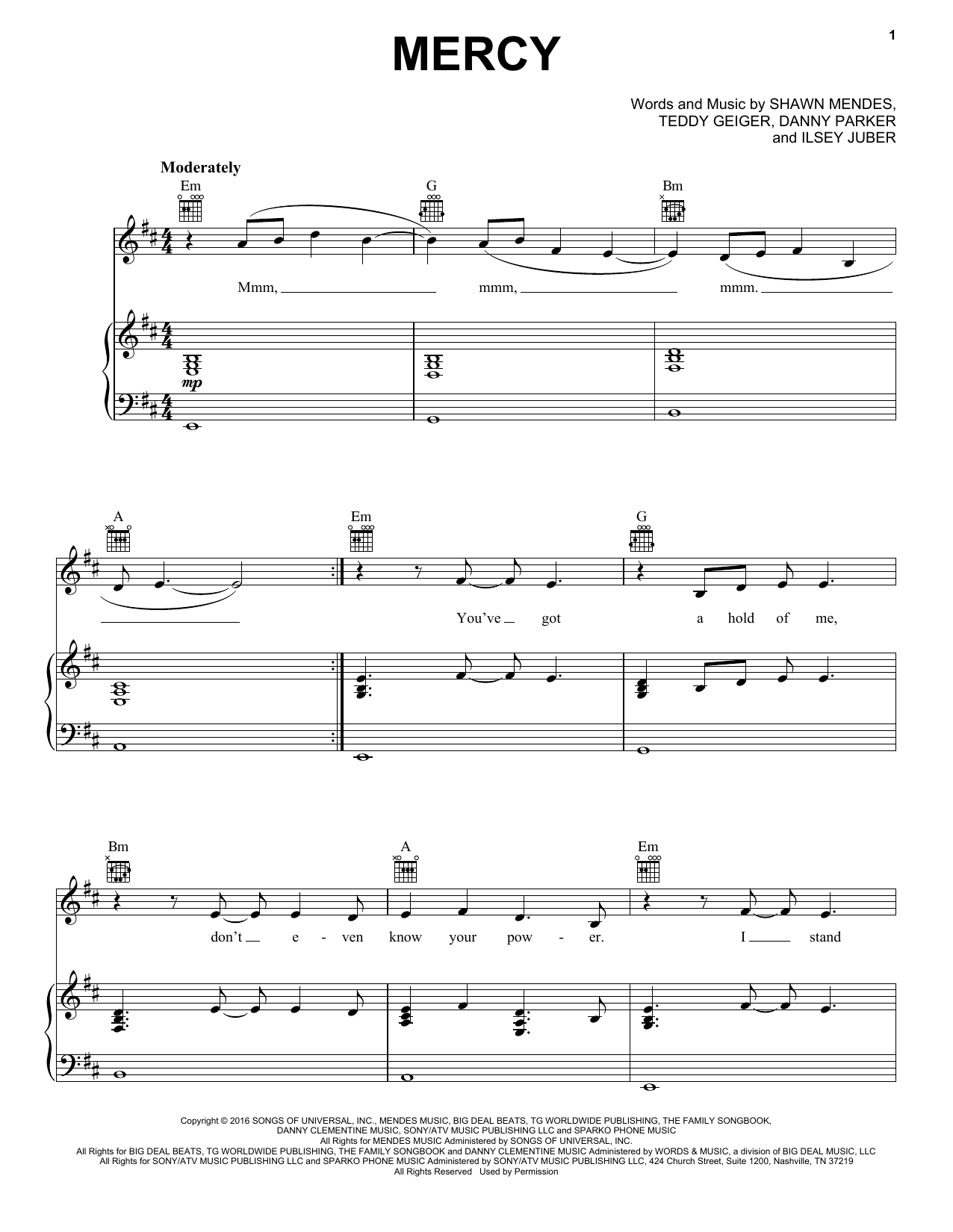 Sheet Music Digital Files To Print - Licensed Danny Parker