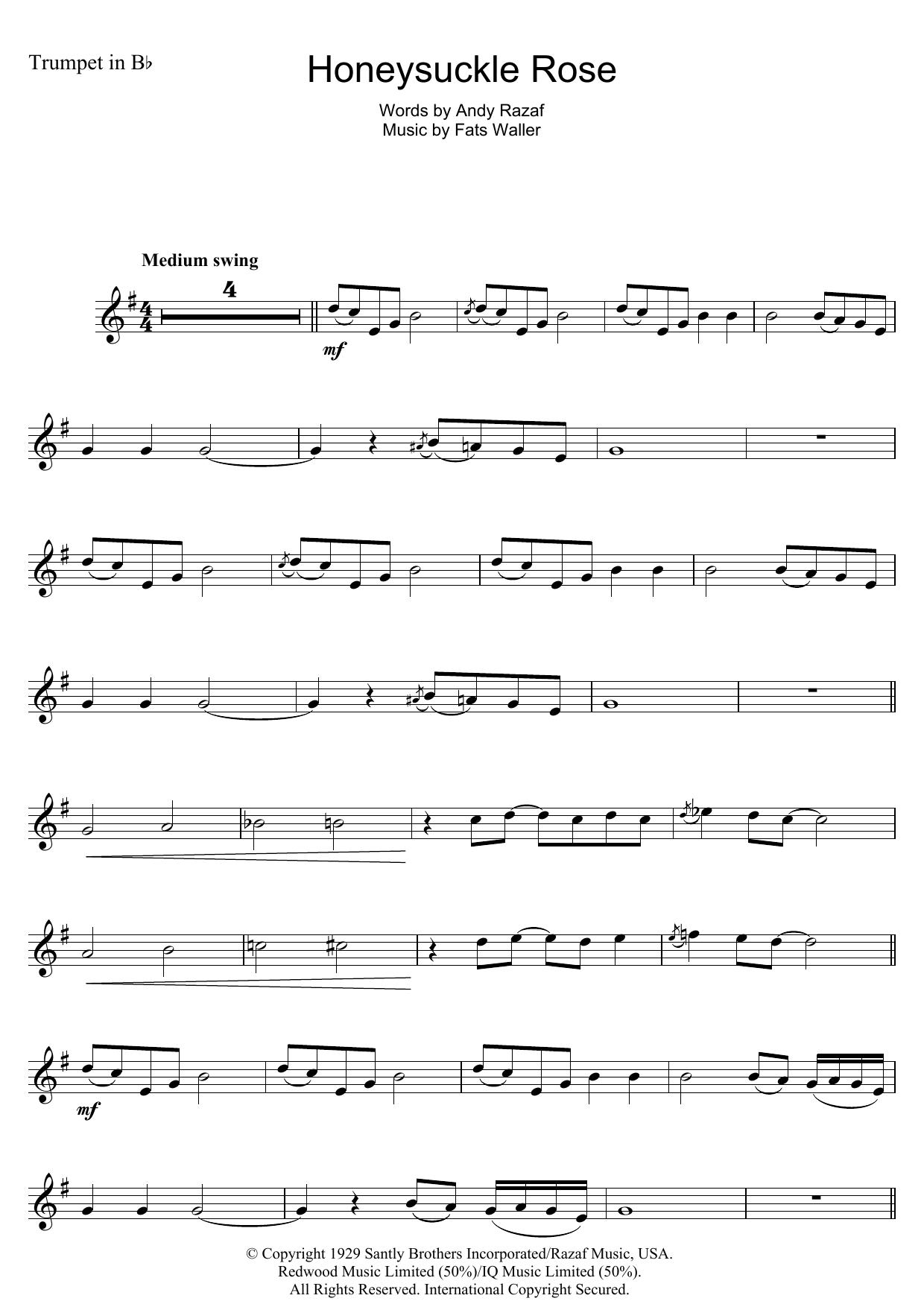 Honeysuckle Rose (Trumpet Solo)
