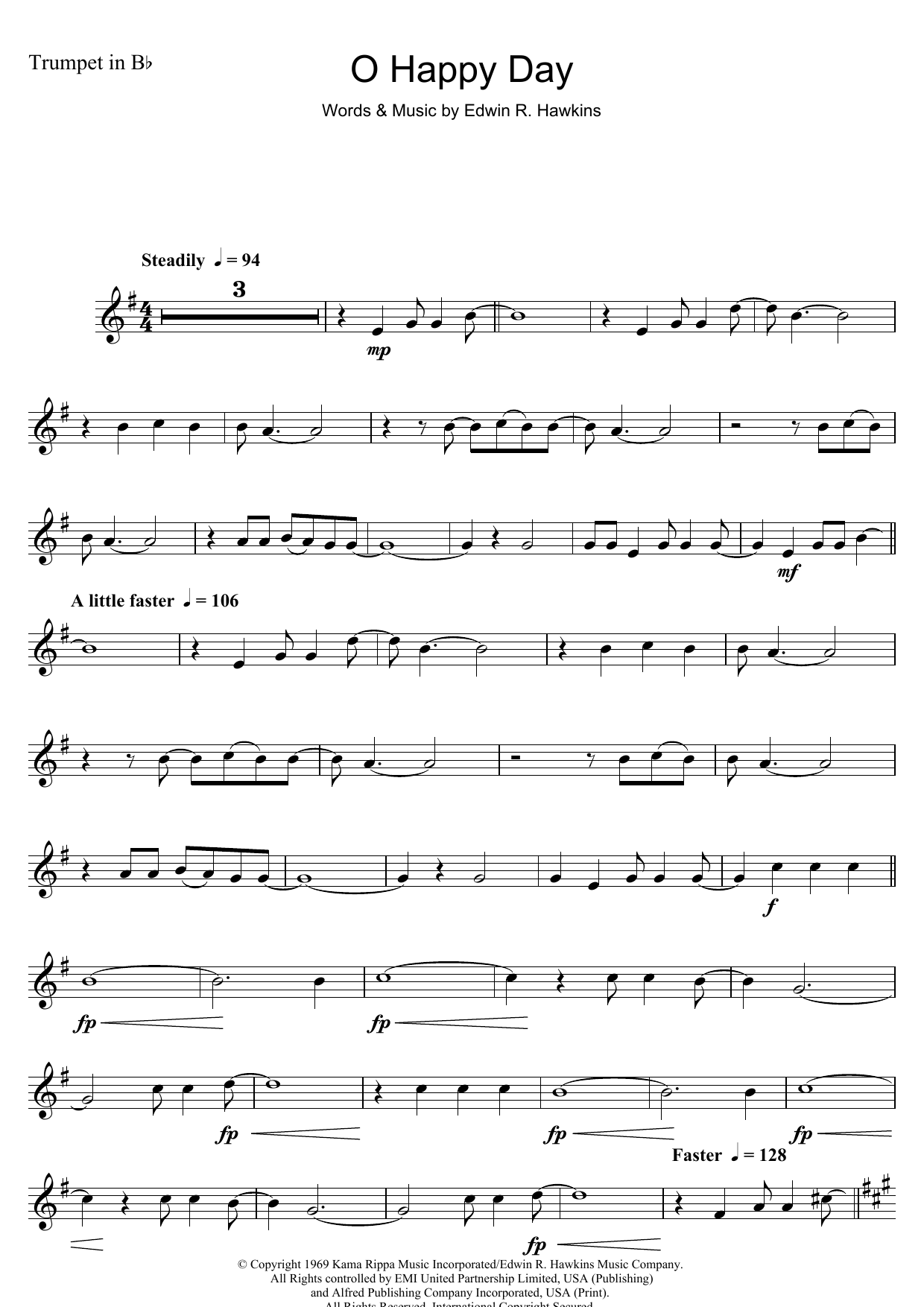 Oh Happy Day Sheet Music