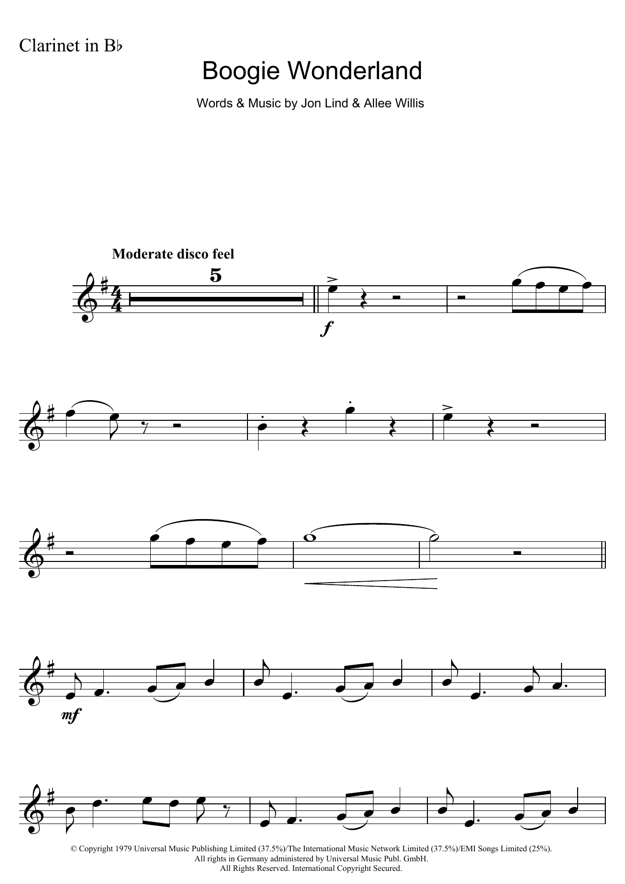 Boogie Wonderland Sheet Music
