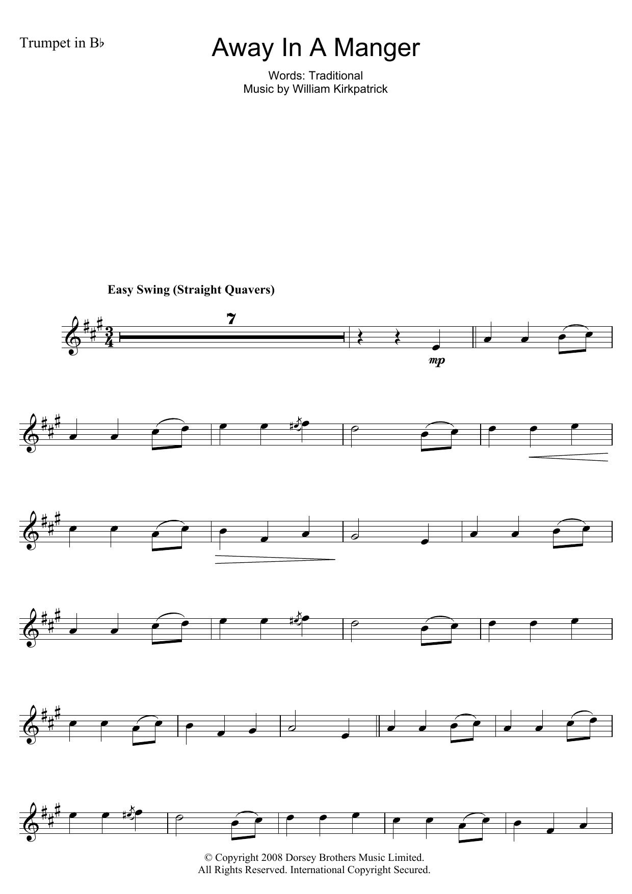 Away In A Manger Sheet Music