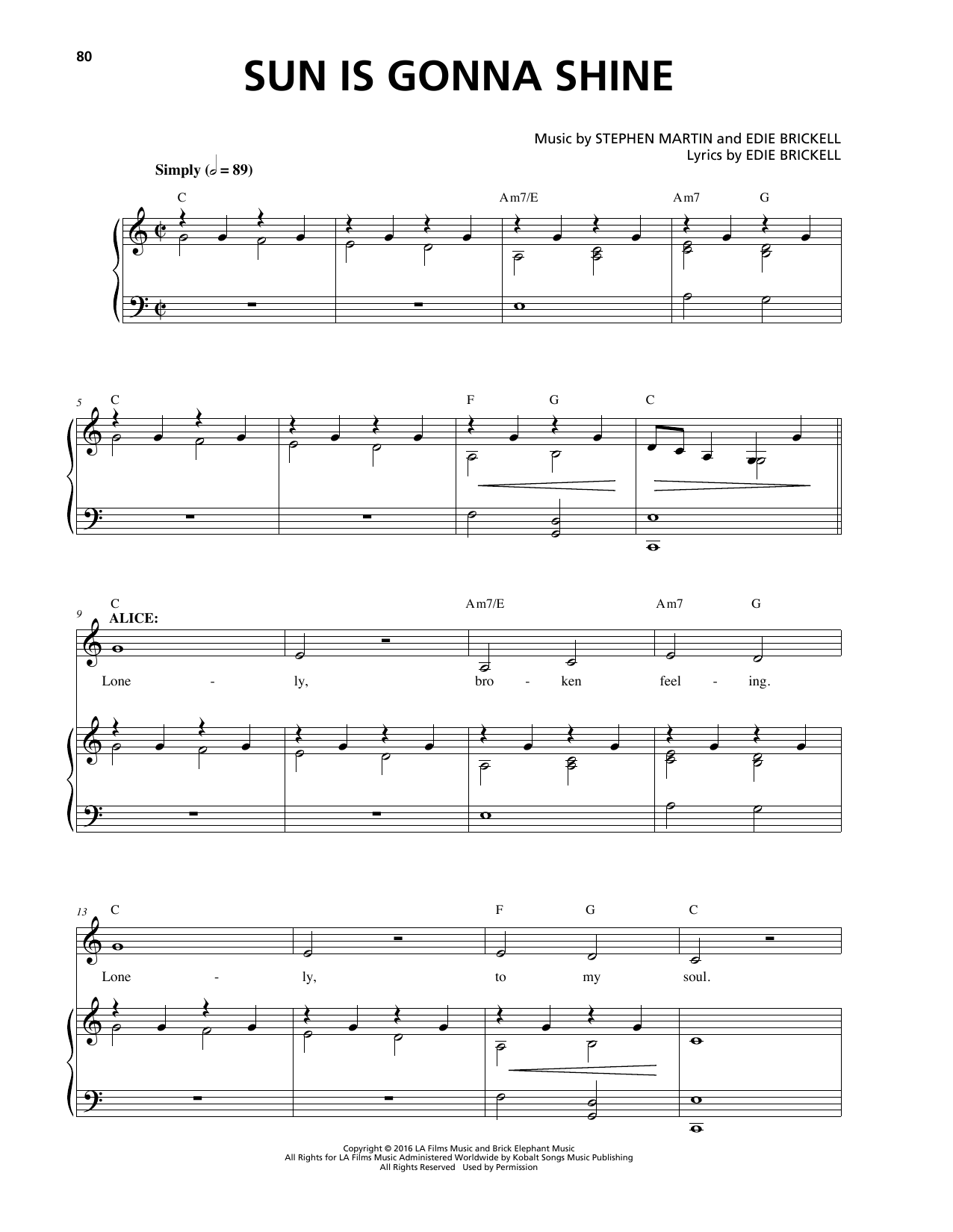 Sun Is Gonna Shine Sheet Music