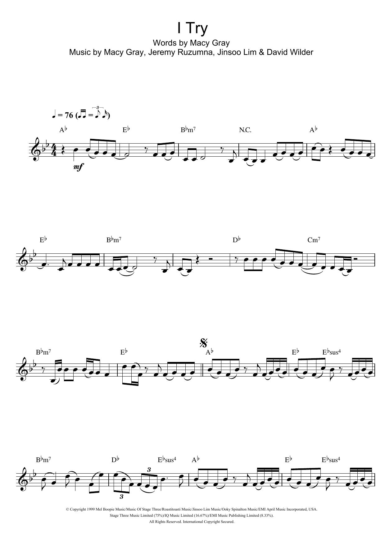 I Try Sheet Music