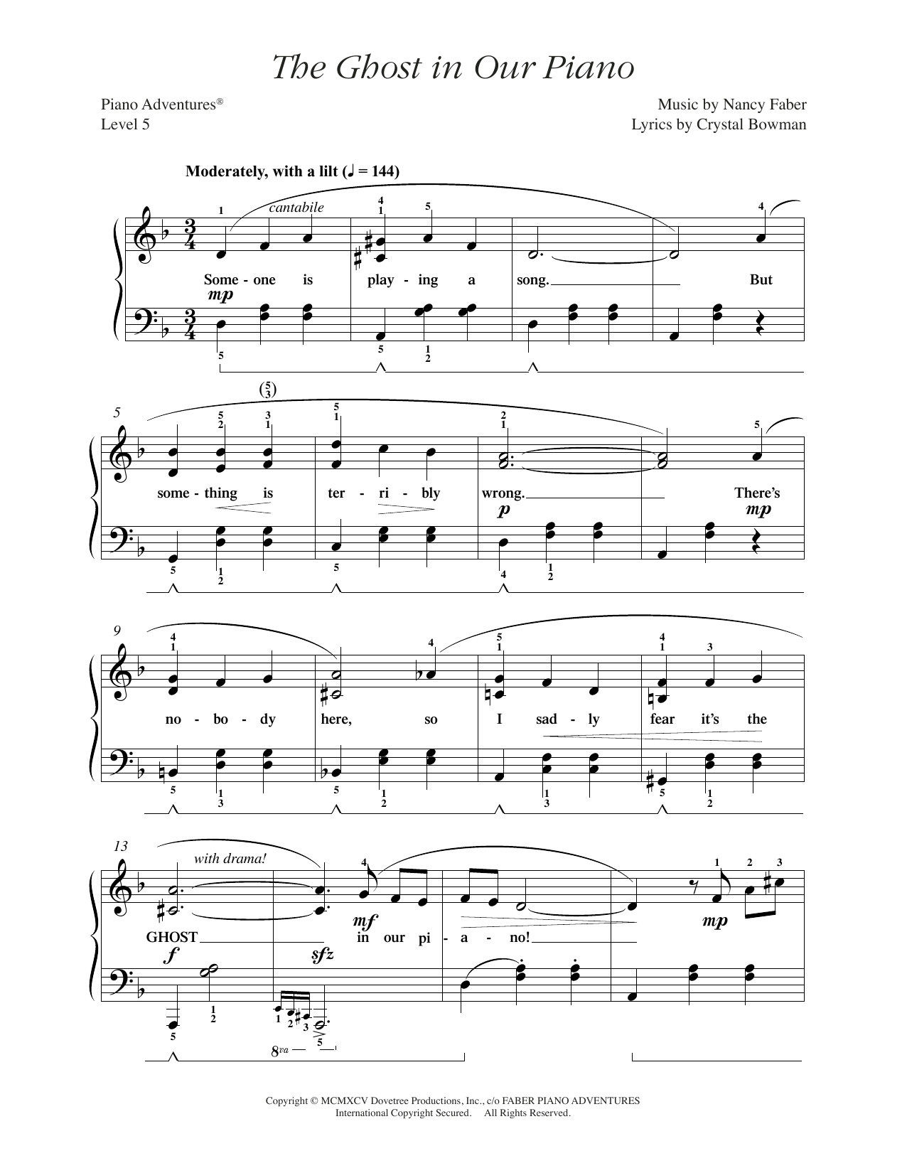 The Ghost in Our Piano Sheet Music